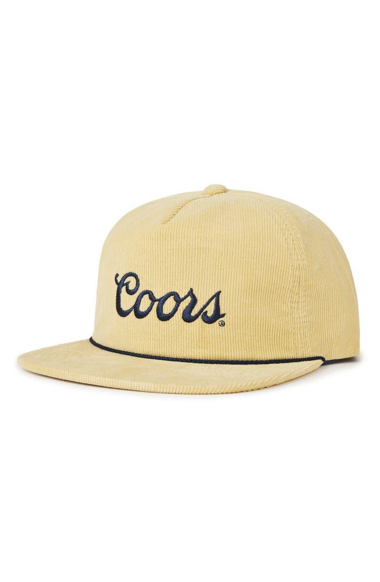 Brixton Coors Signature Corduroy Snapback Cap  6e53190bc5f