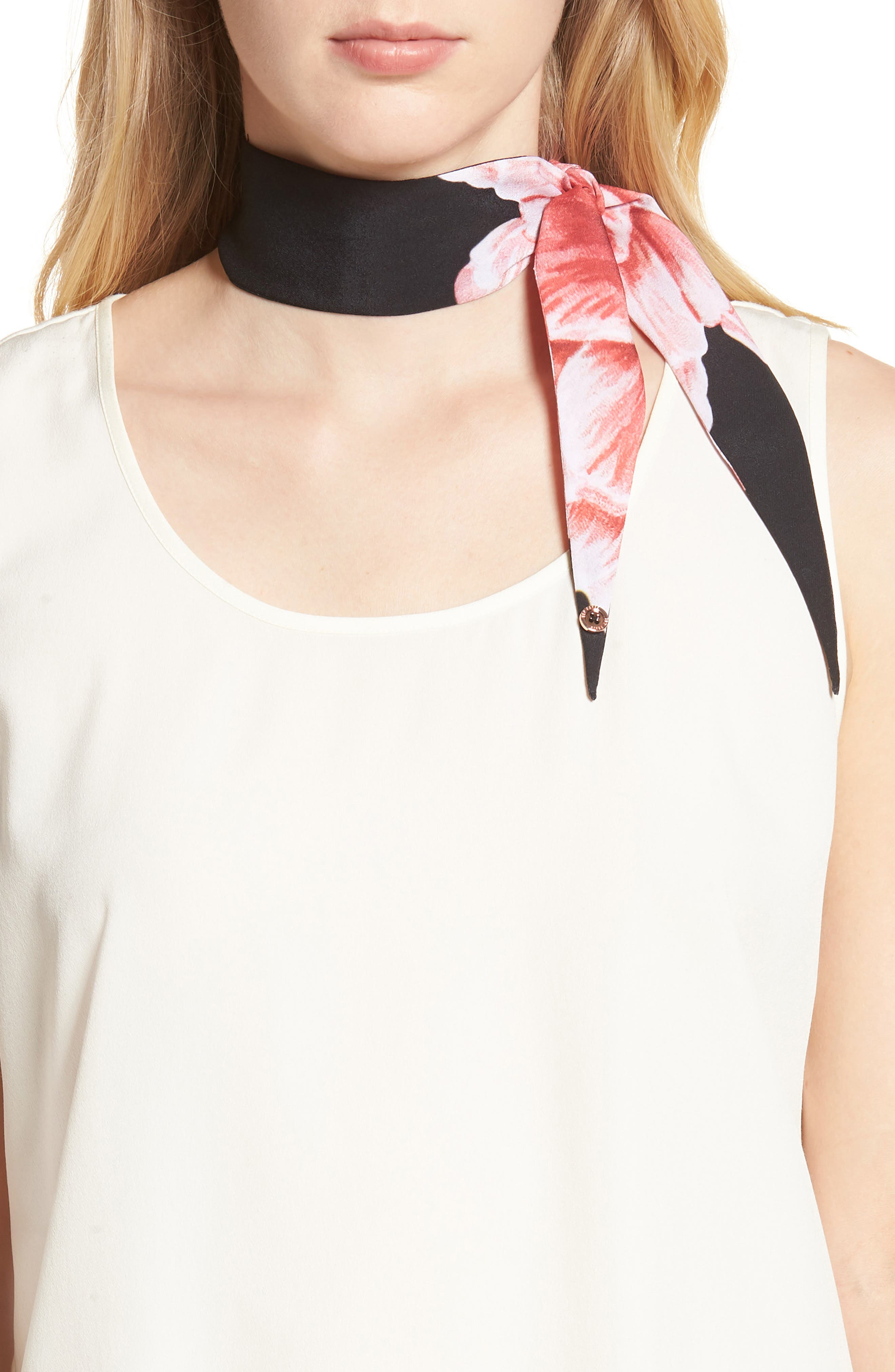 Mini Tranquility Skinny Scarf,                         Main,                         color, 001