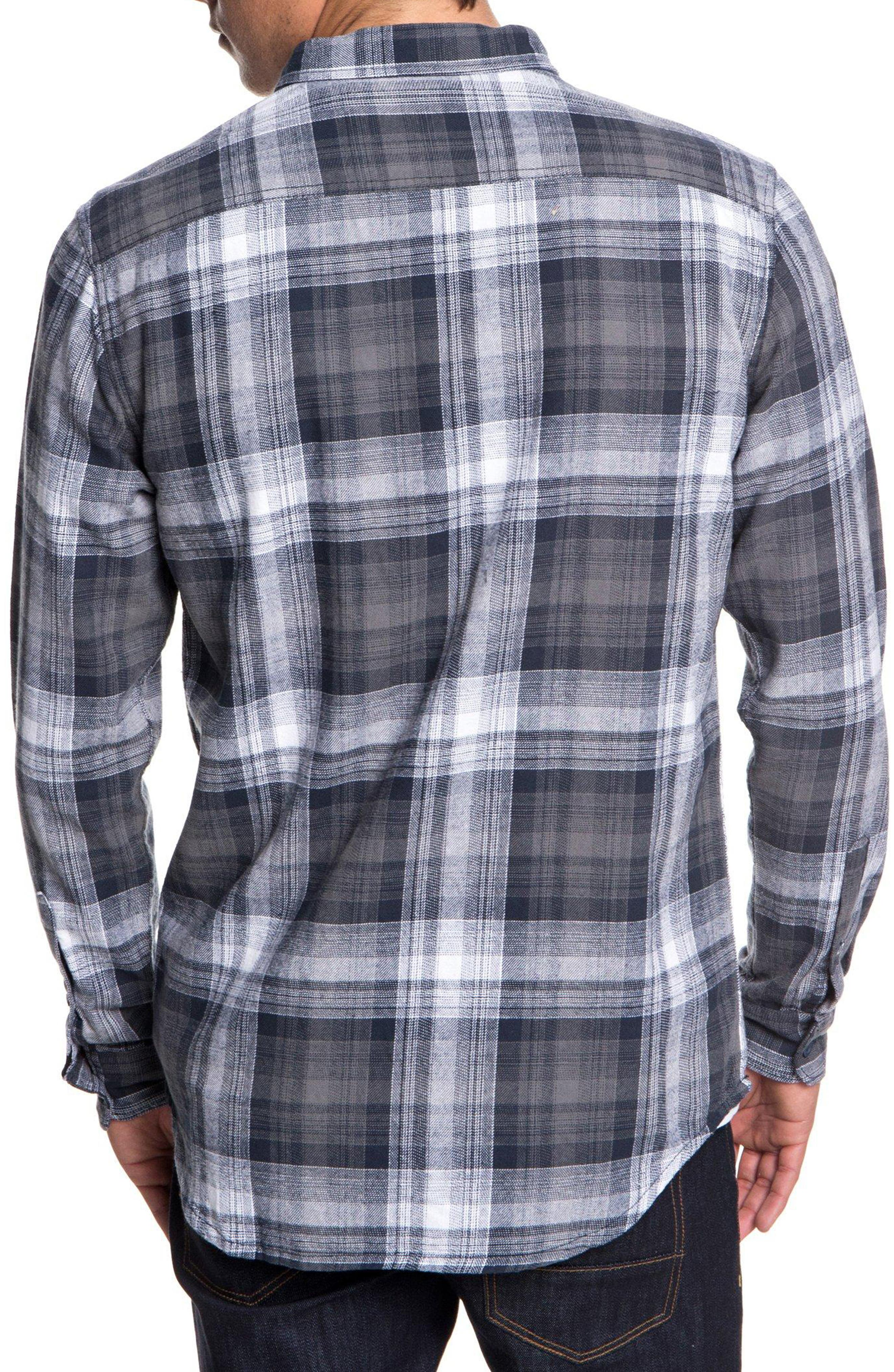 Fatherfly Plaid Shirt,                             Alternate thumbnail 2, color,                             BLUE NIGHT FATHERFLY CHECK