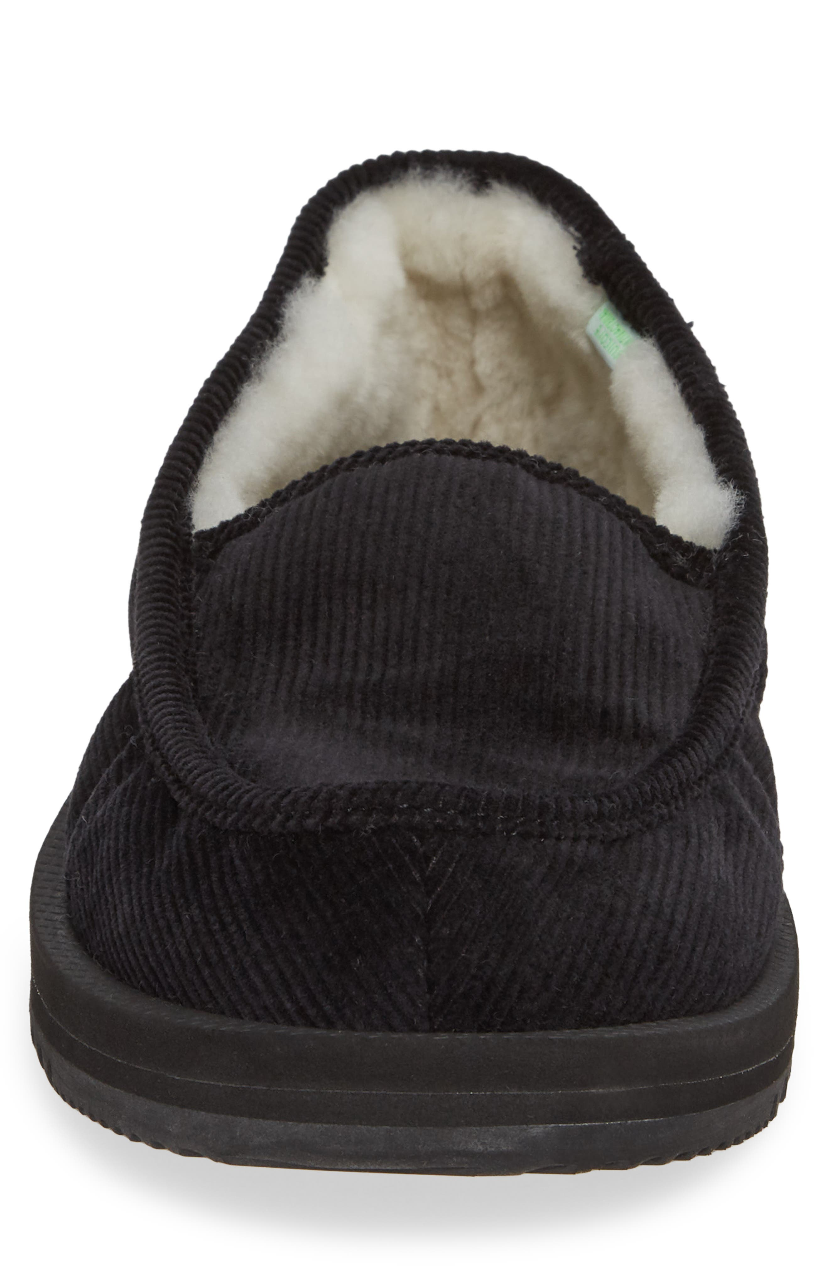 Genuine Shearling Slipper,                             Alternate thumbnail 4, color,                             001