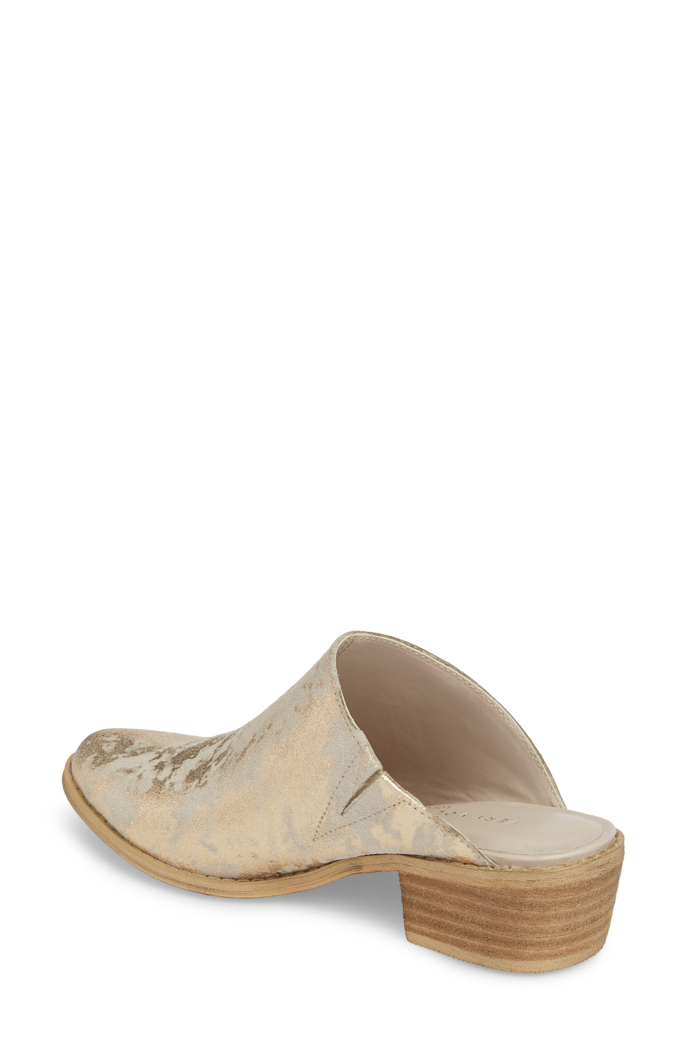Moonstruck Mule,                             Alternate thumbnail 2, color,                             LIGHT GOLD SUEDE LEATHER