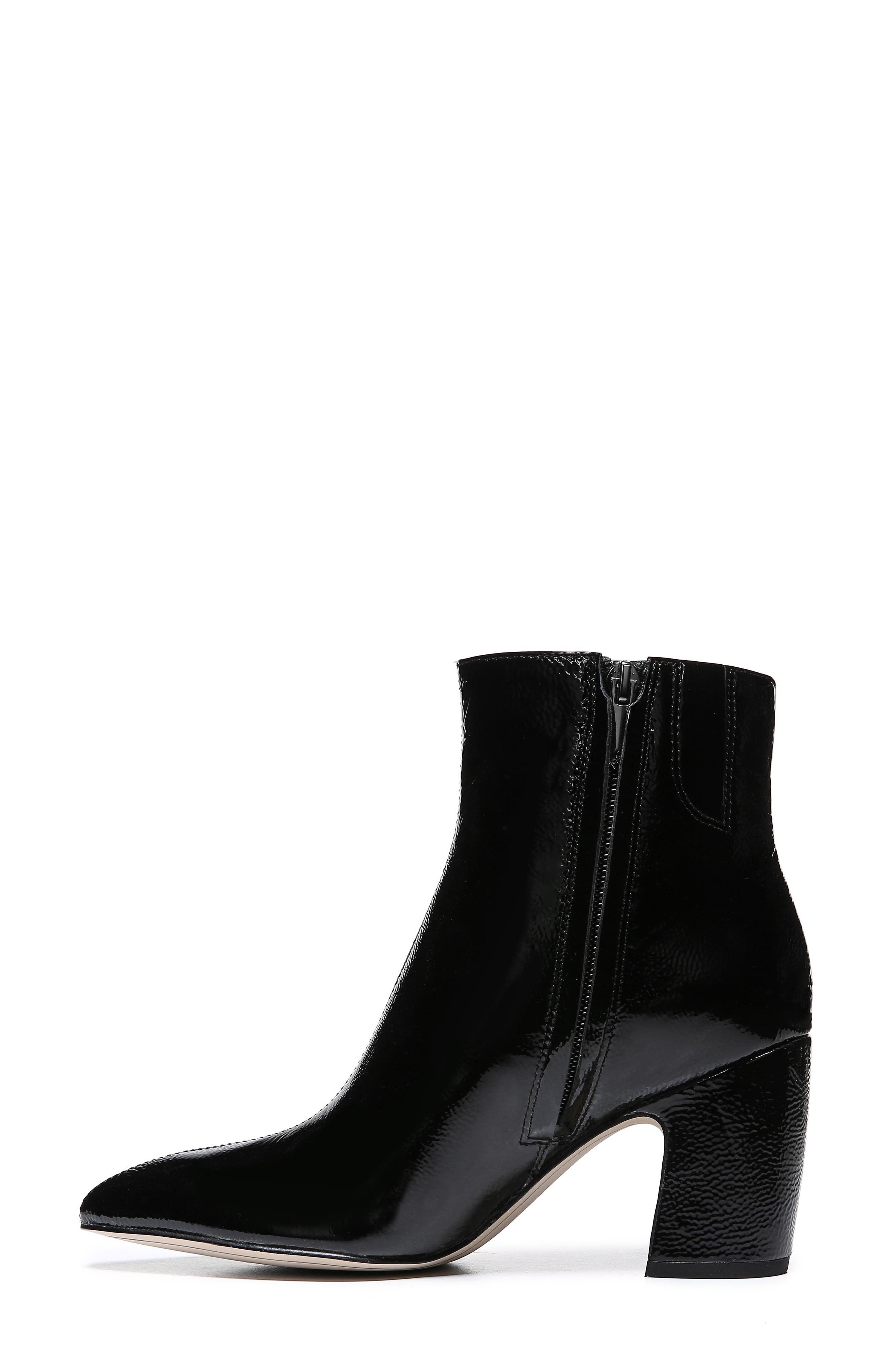Hilty Genuine Calf Hair Bootie,                             Alternate thumbnail 9, color,                             BLACK PATENT LEATHER