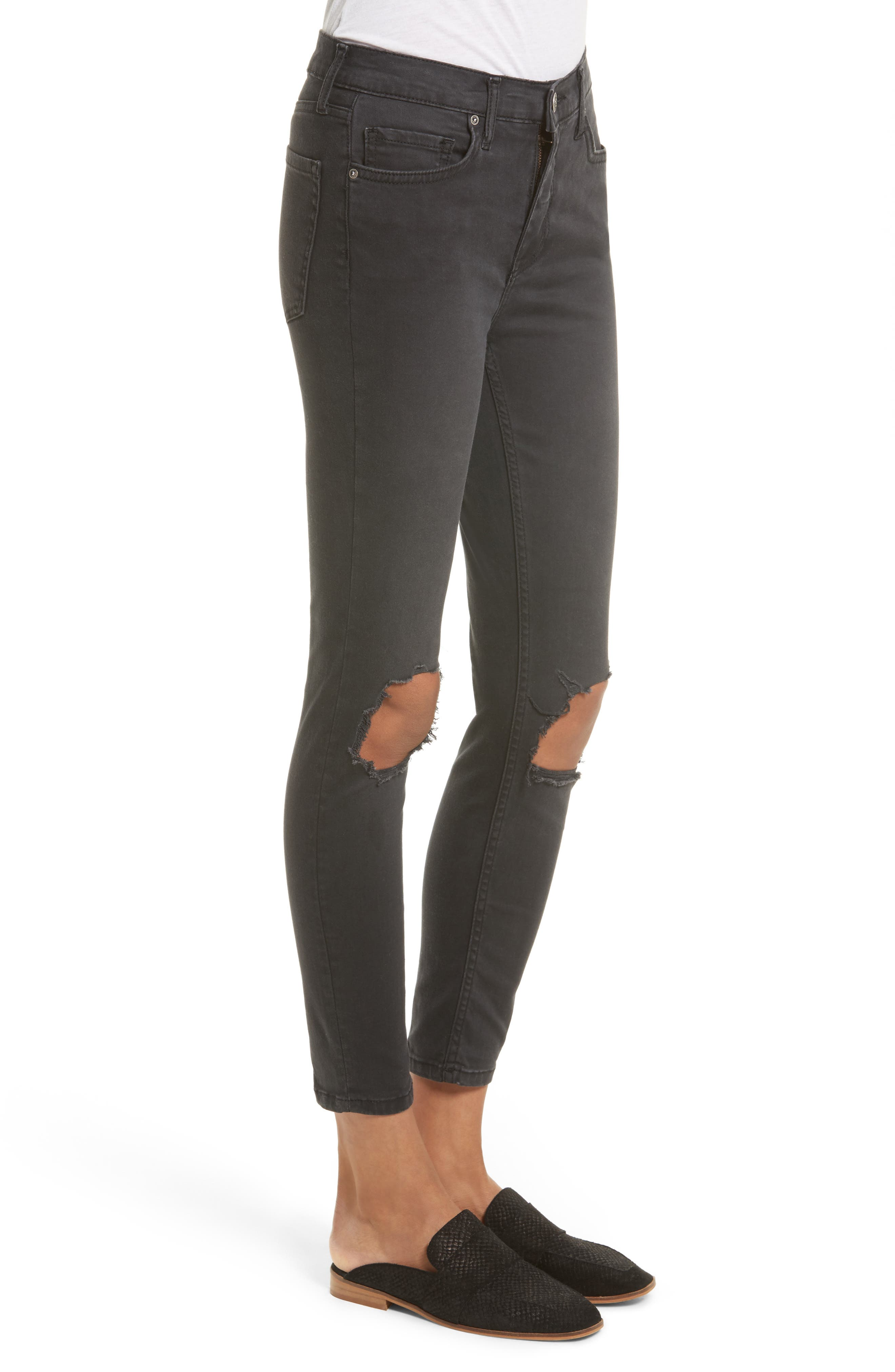 We the People by Free People High Rise Busted Knee Skinny Jeans,                             Alternate thumbnail 10, color,