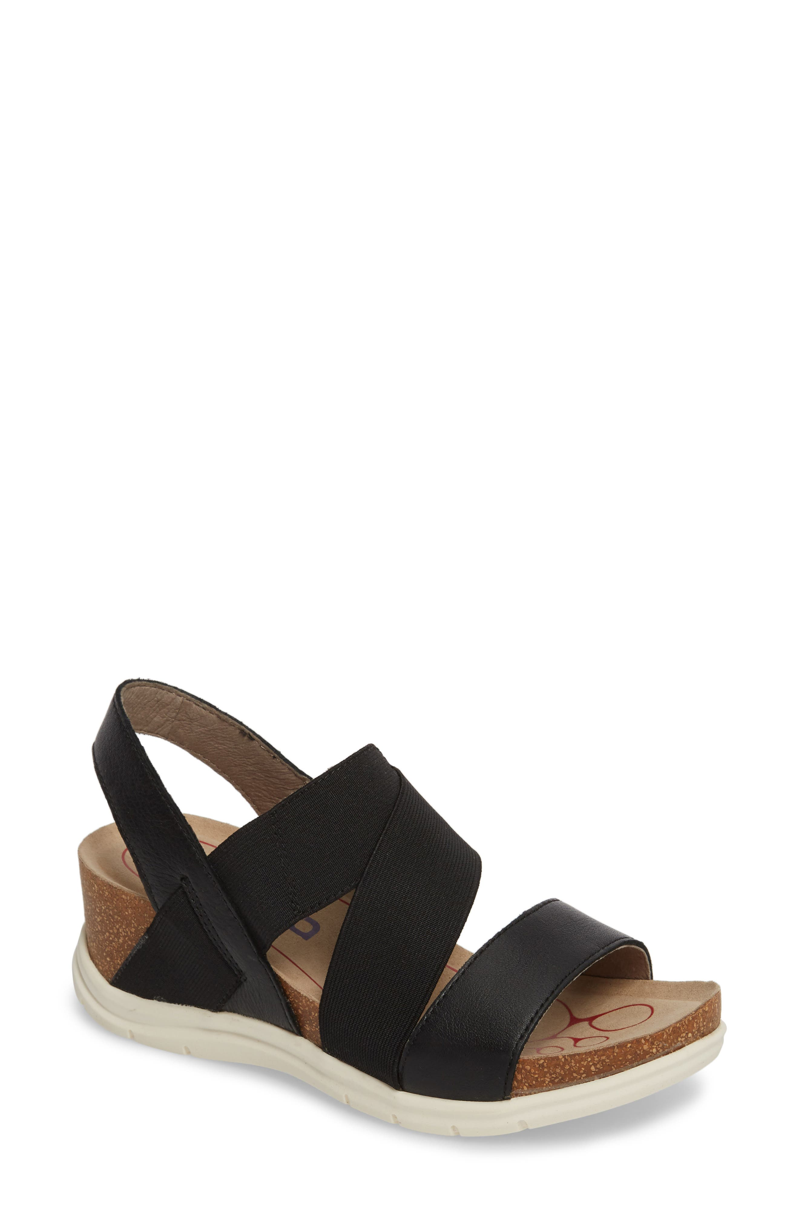 Paisley Wedge Sandal,                         Main,                         color, 001