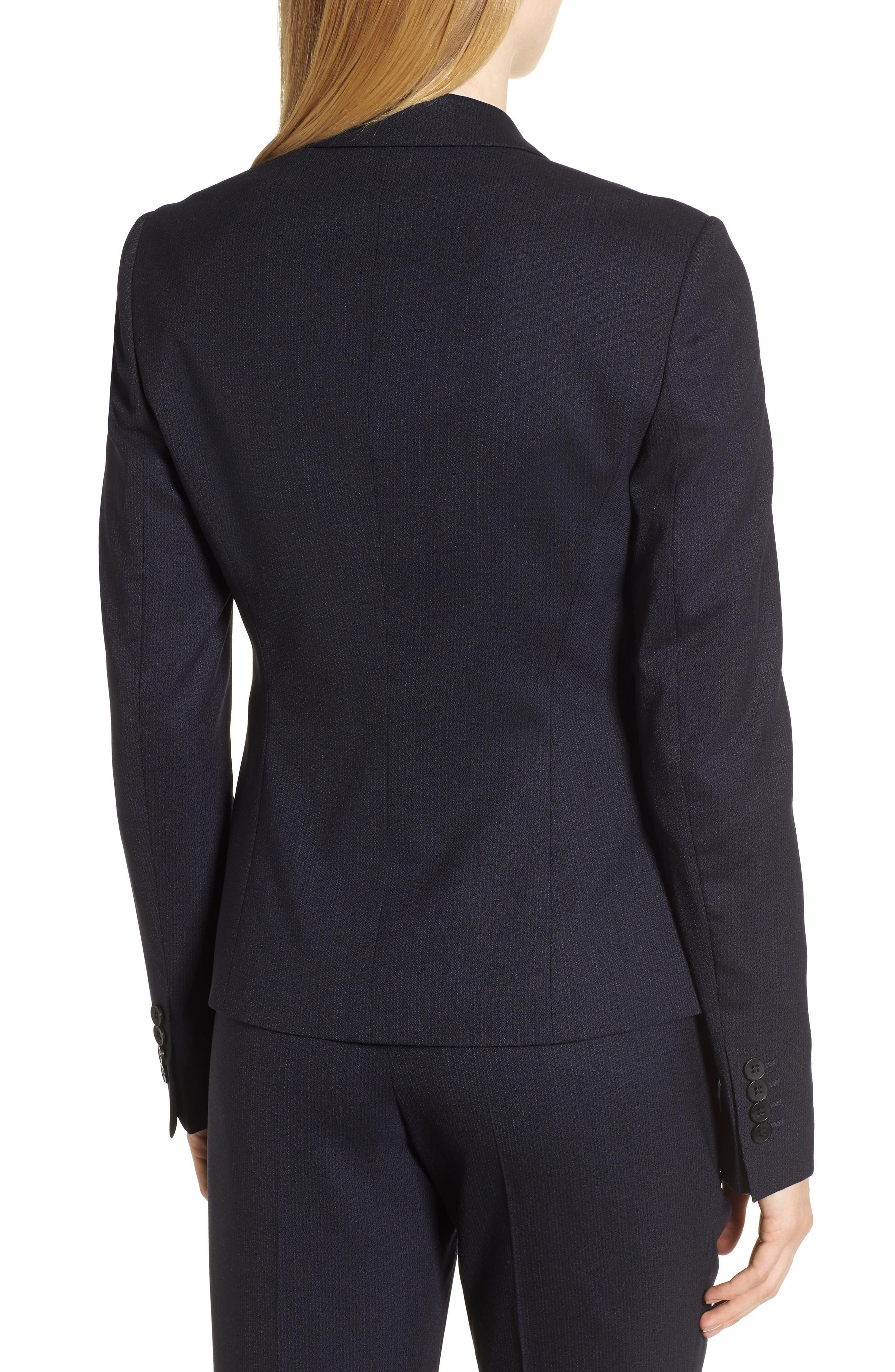 Jamahina Monostripe Stretch Wool Suit Jacket,                             Alternate thumbnail 2, color,                             468