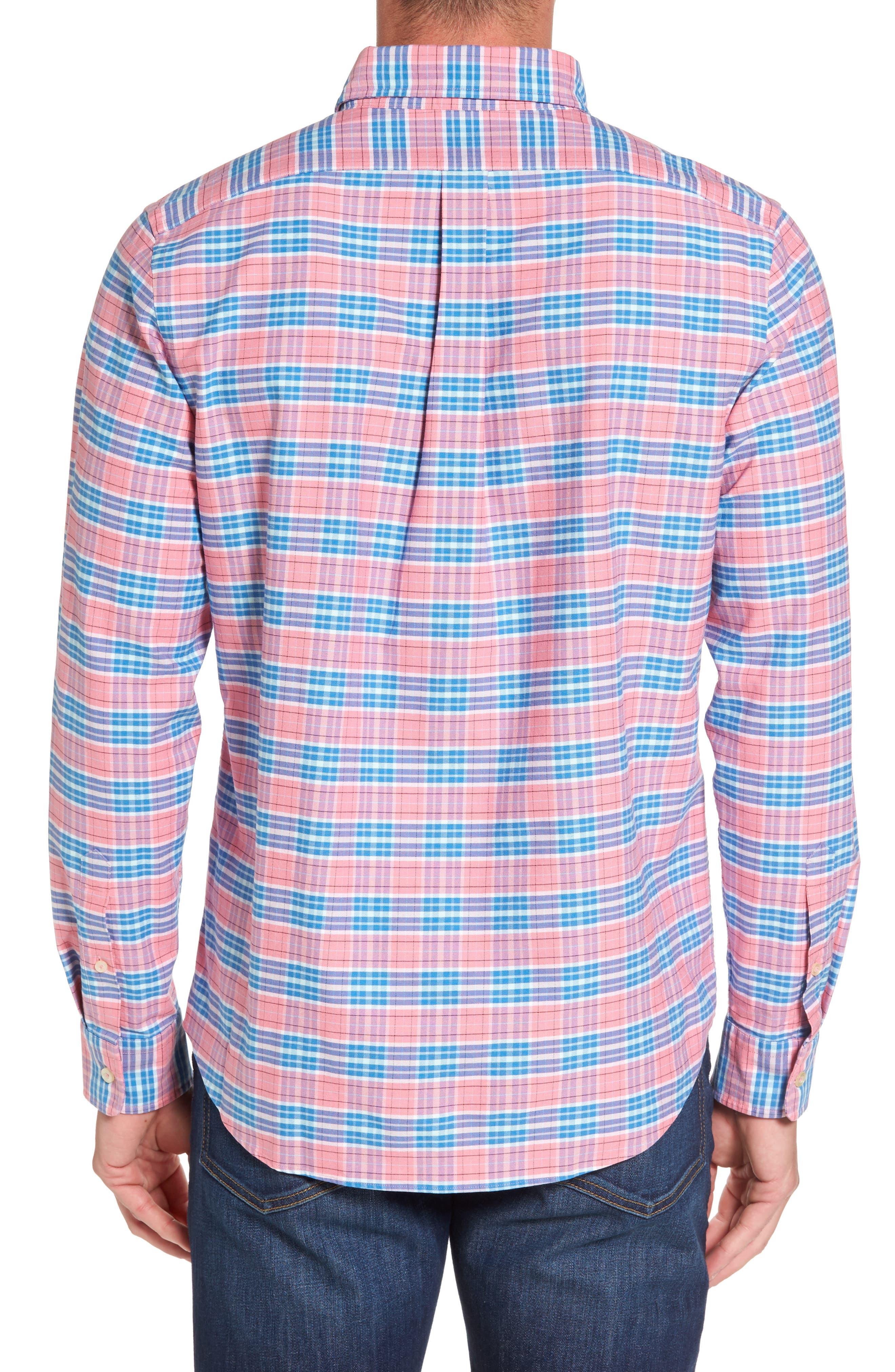 Island Reach Slim Fit Tucker Sport Shirt,                             Alternate thumbnail 2, color,