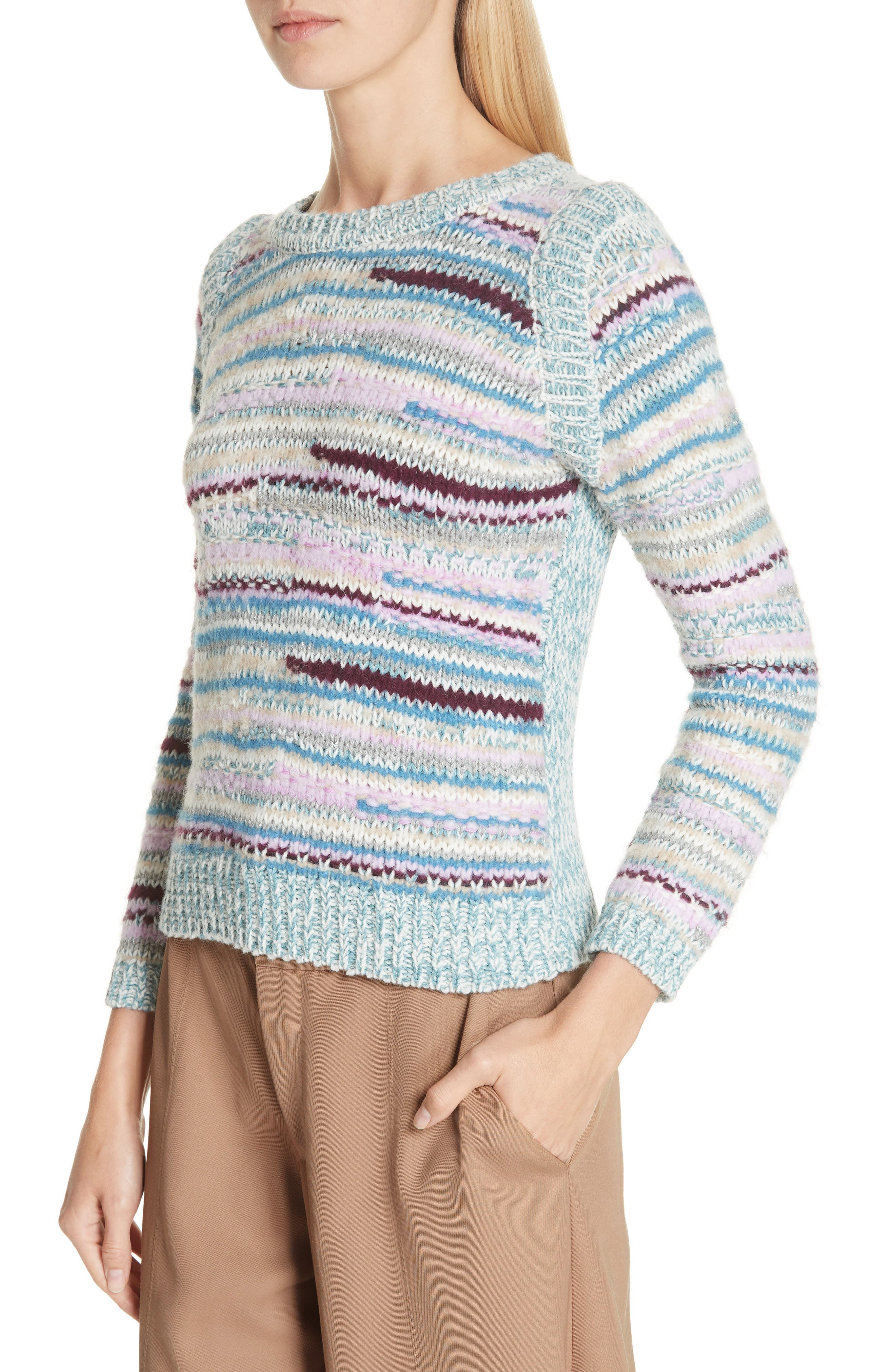 Knit Pullover,                             Alternate thumbnail 4, color,                             DUSTY BLUE