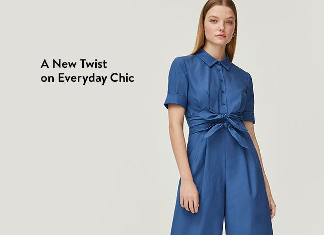 A new twist on everyday chic, blue jumpsuit from Gal Meets Glam.