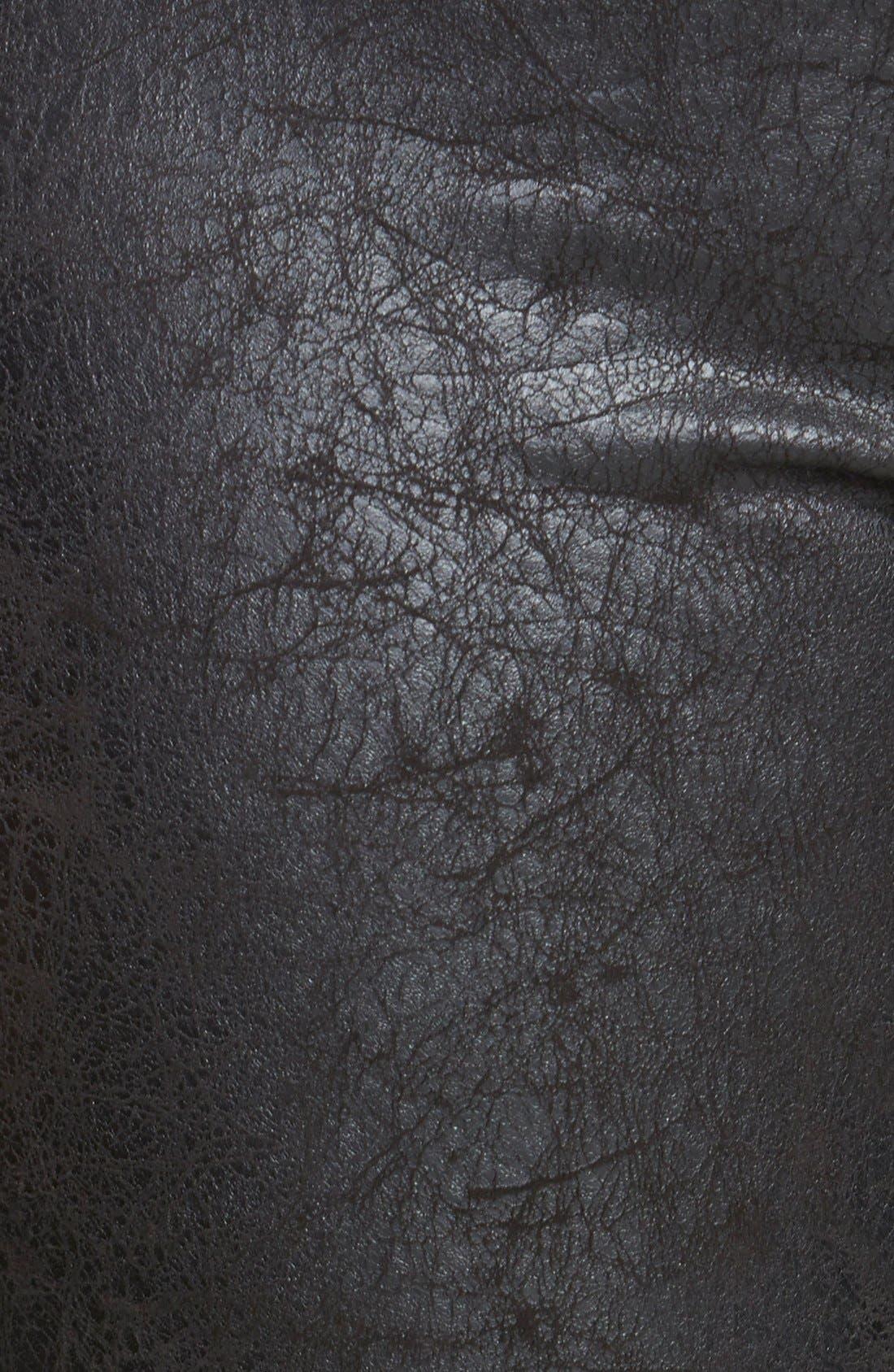 Distressed Faux Leather & Ponte Knit Leggings,                             Alternate thumbnail 2, color,                             001