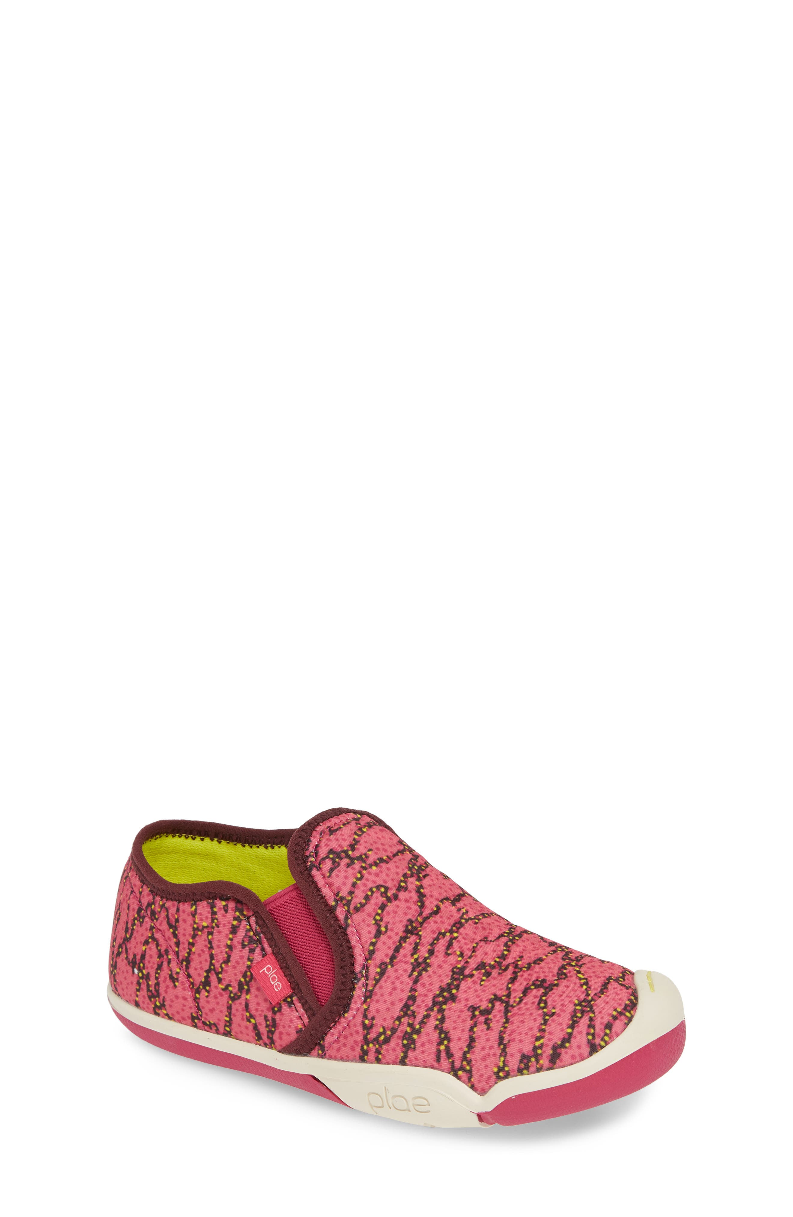PLAE,                             Migi Slip-On Sneaker,                             Main thumbnail 1, color,                             ELECTRIC FUCHSIA SURGE