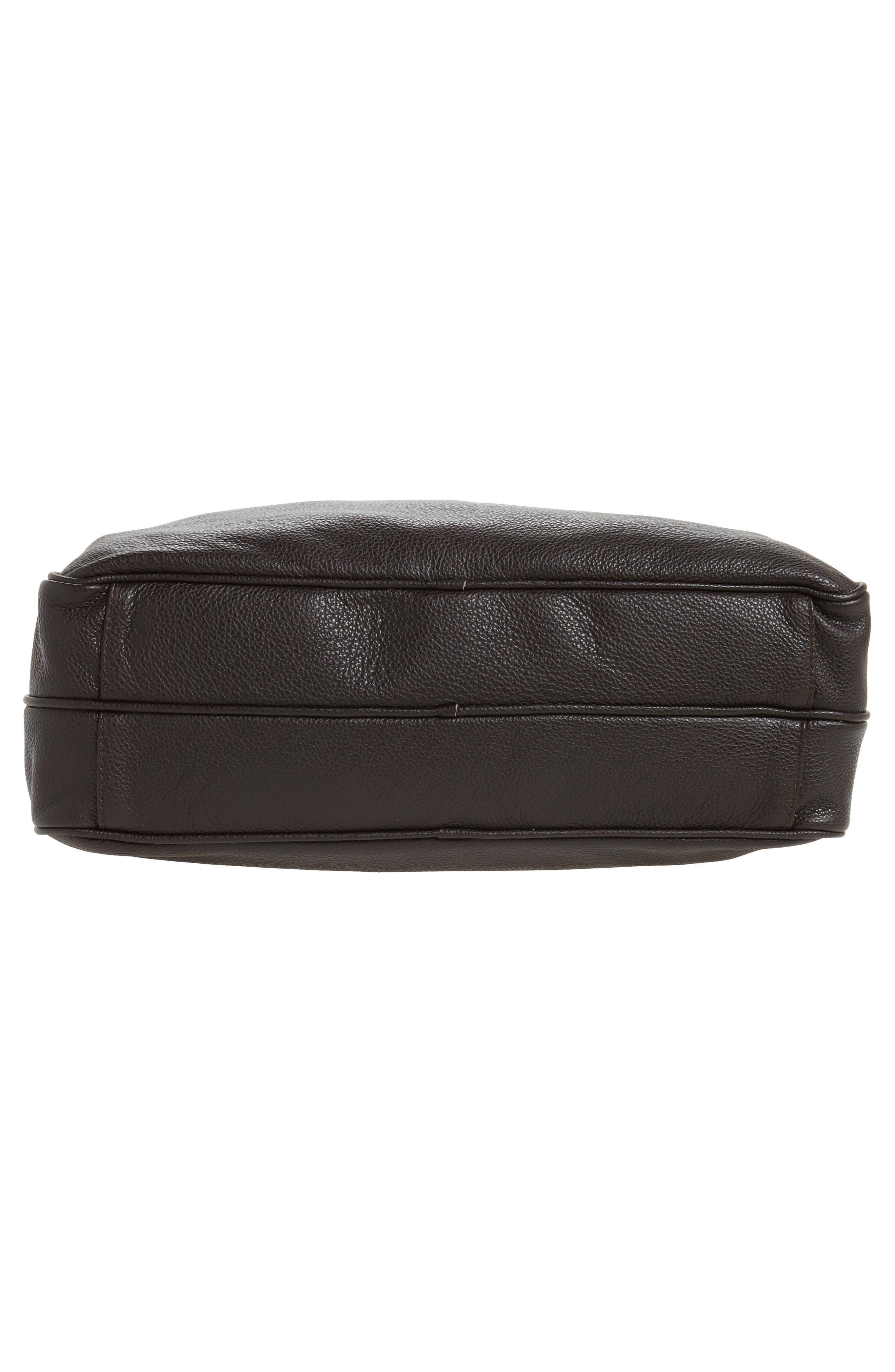 Leather Laptop Bag,                             Alternate thumbnail 12, color,