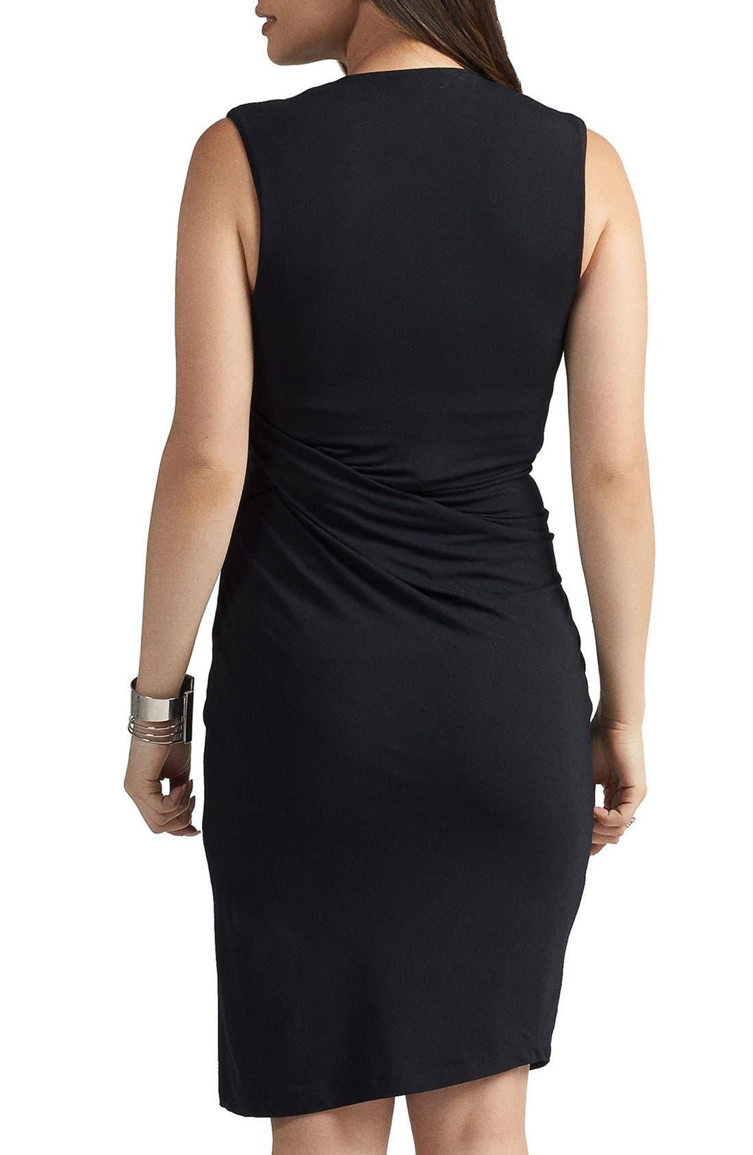 Margaux Maternity Dress,                             Alternate thumbnail 2, color,                             BLACK