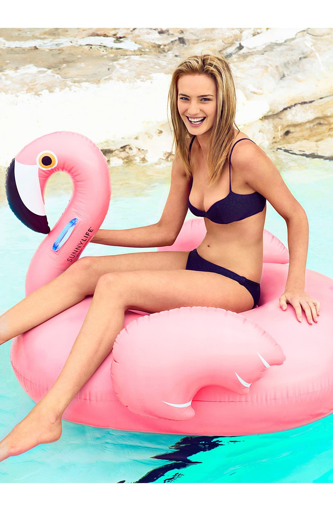 Really Big Inflatable Flamingo Pool Floatie,                             Alternate thumbnail 2, color,                             000