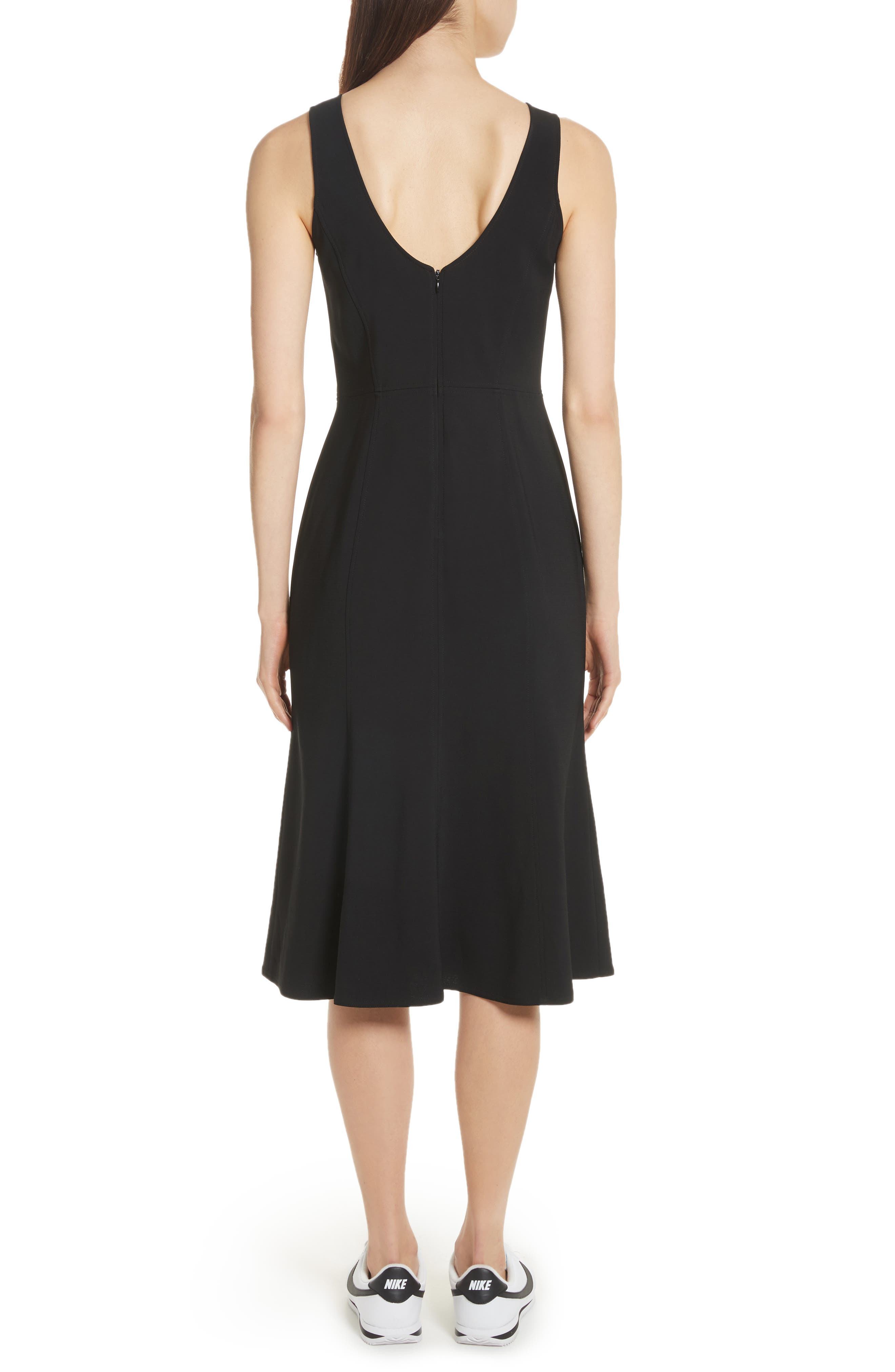 Sander Buckle Strap Midi Dress,                             Alternate thumbnail 3, color,