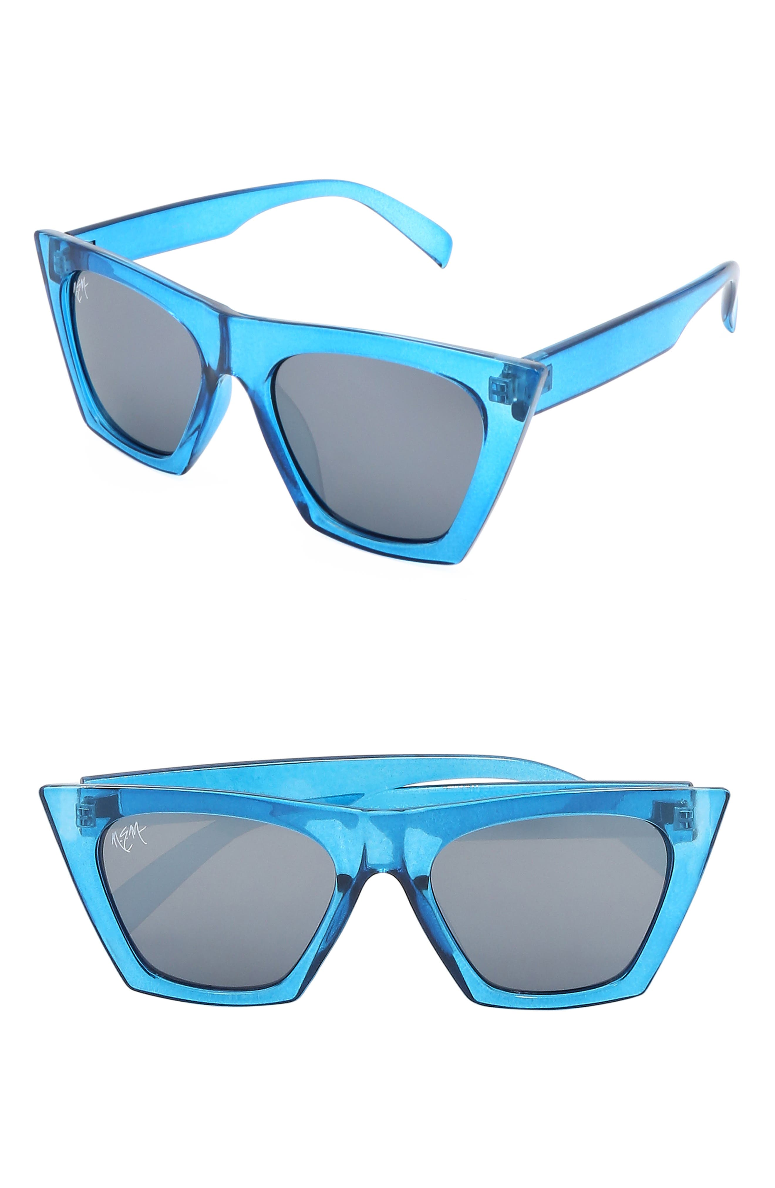 Nem Posh 50Mm Gradient Angular Sunglasses -