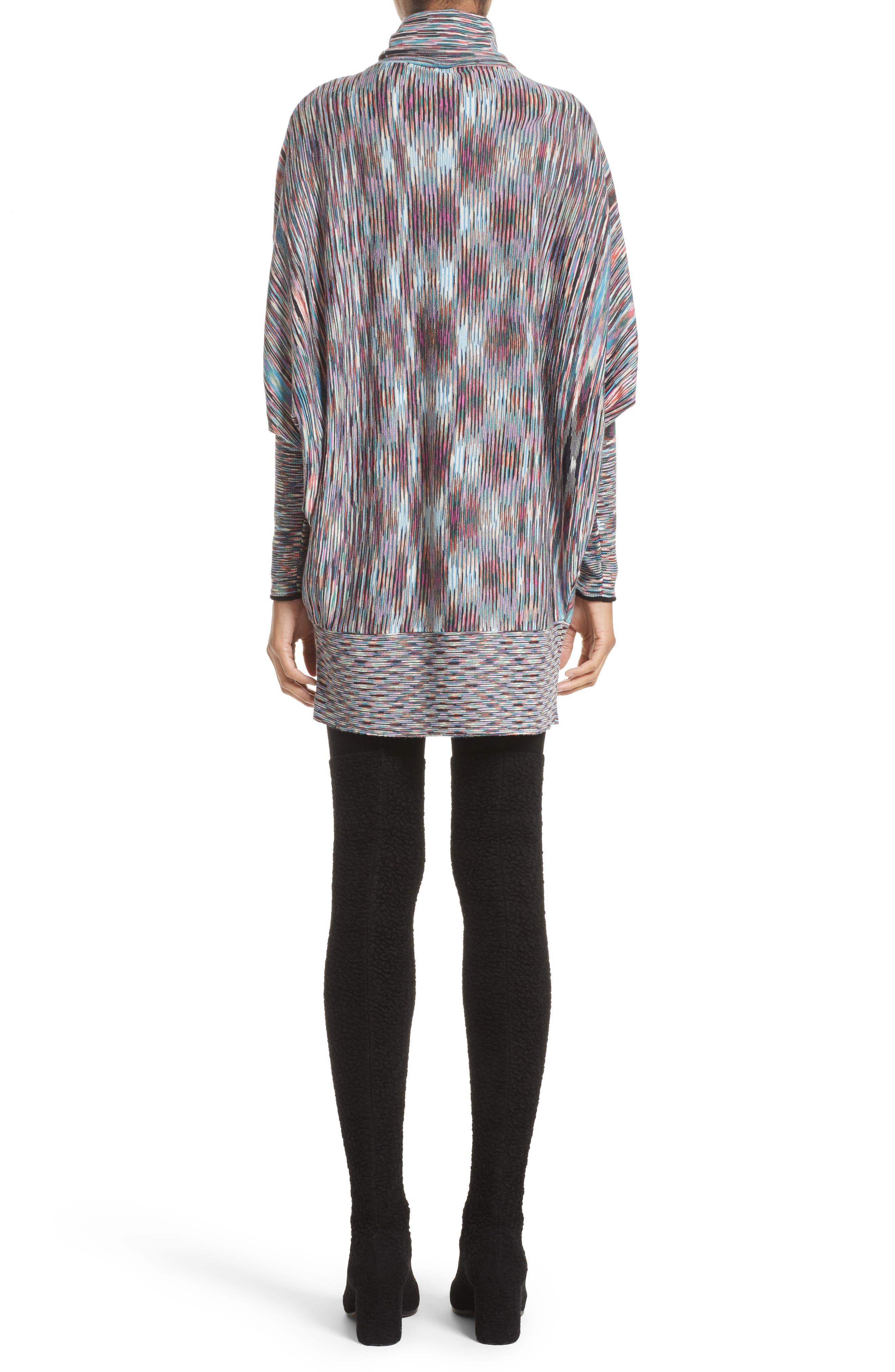Space Dye Knit Dress,                             Alternate thumbnail 2, color,                             001