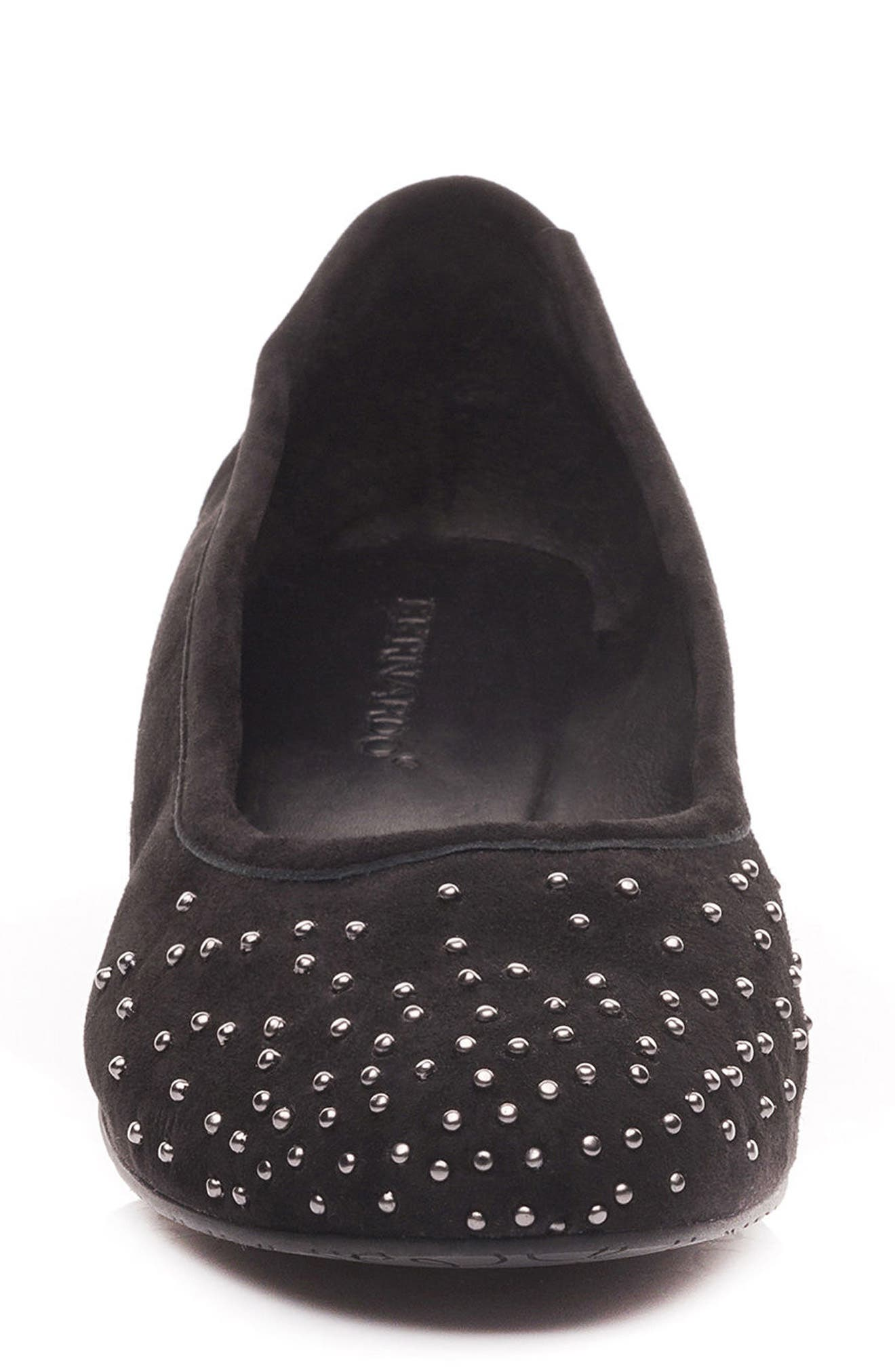 Dallas Studded Flat,                             Alternate thumbnail 4, color,                             001