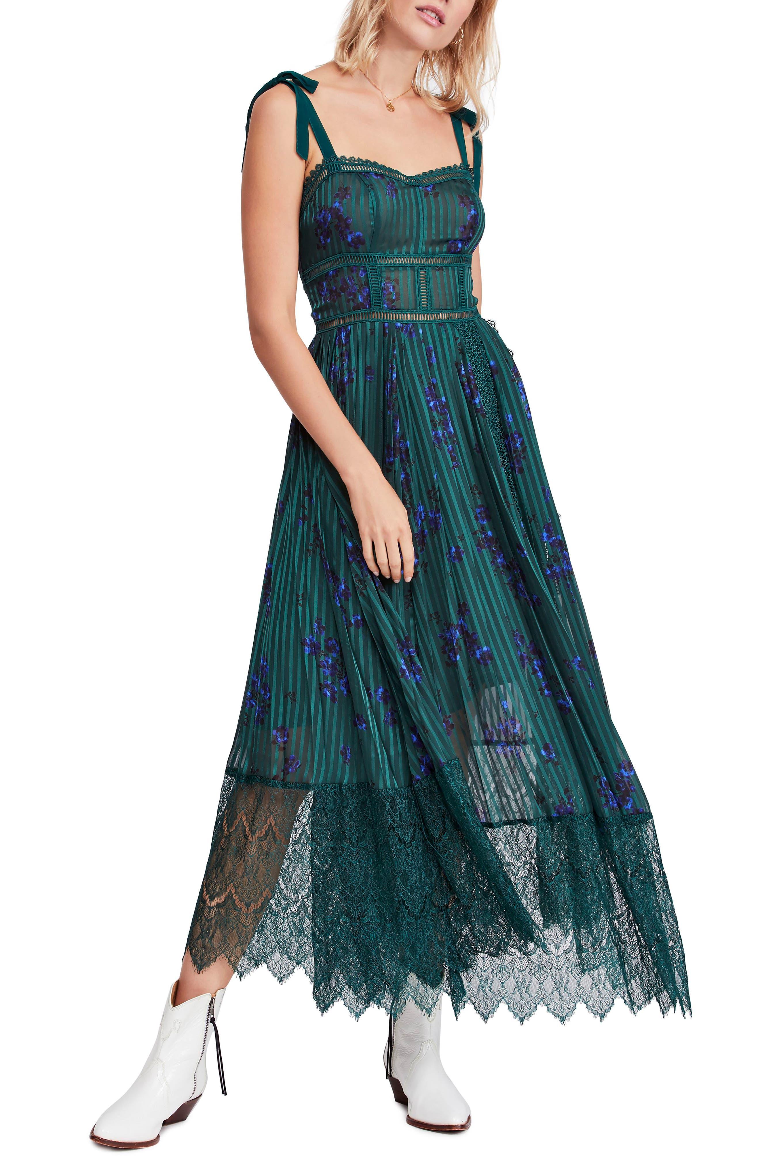 Free People Seven Wonders Maxi Dress, Green