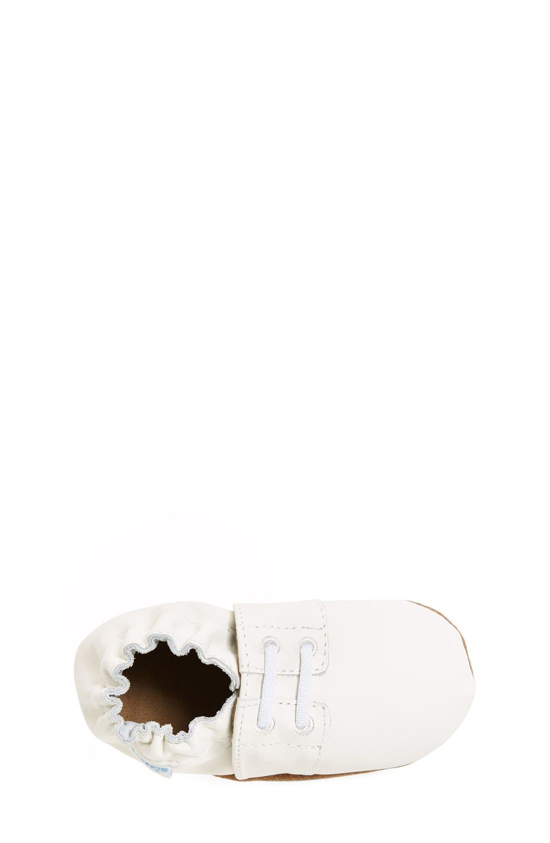 'Special Occasion' Crib Shoe,                             Alternate thumbnail 3, color,                             WHITE