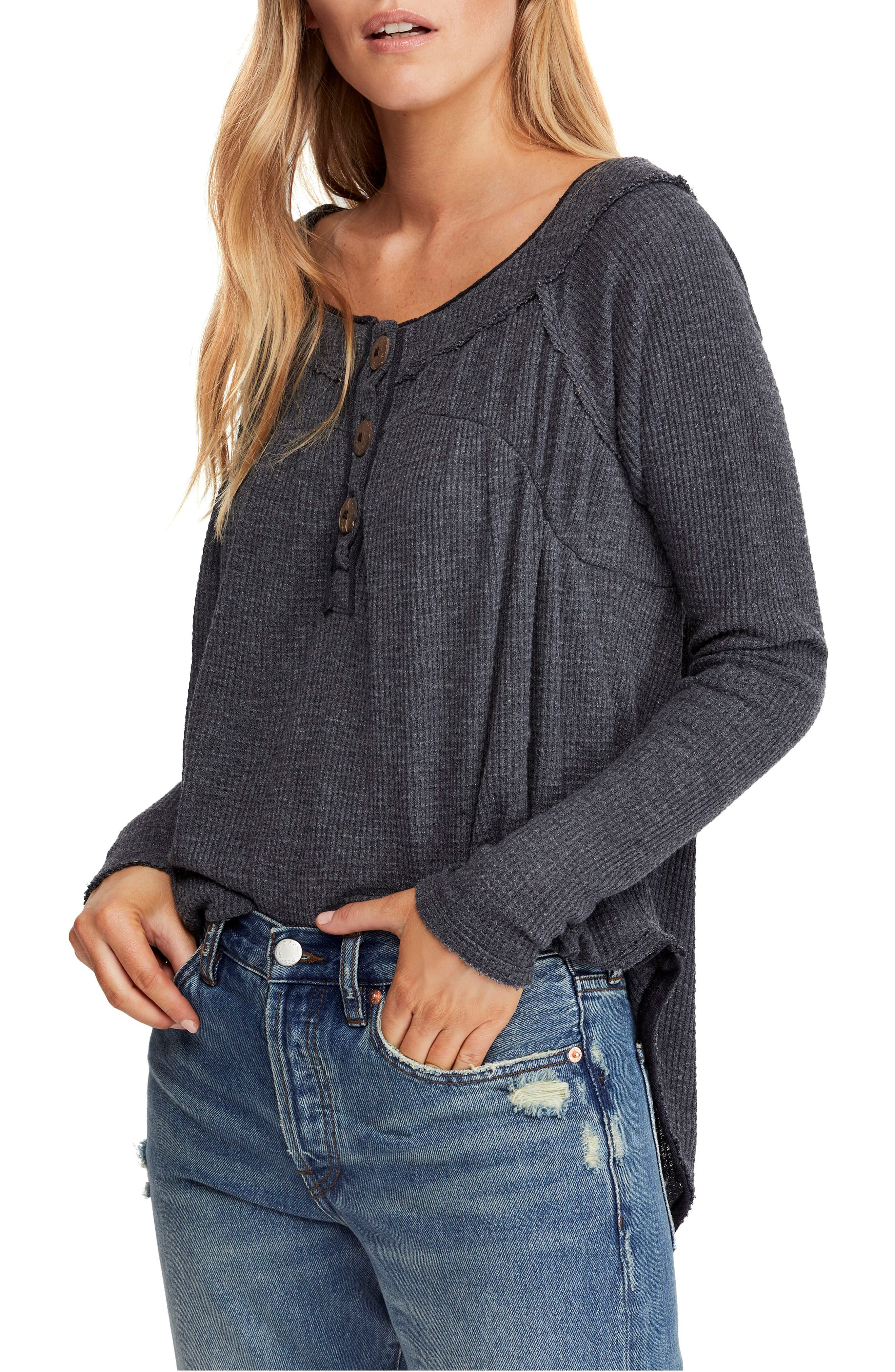 Must Have Henley,                             Main thumbnail 1, color,                             BLACK