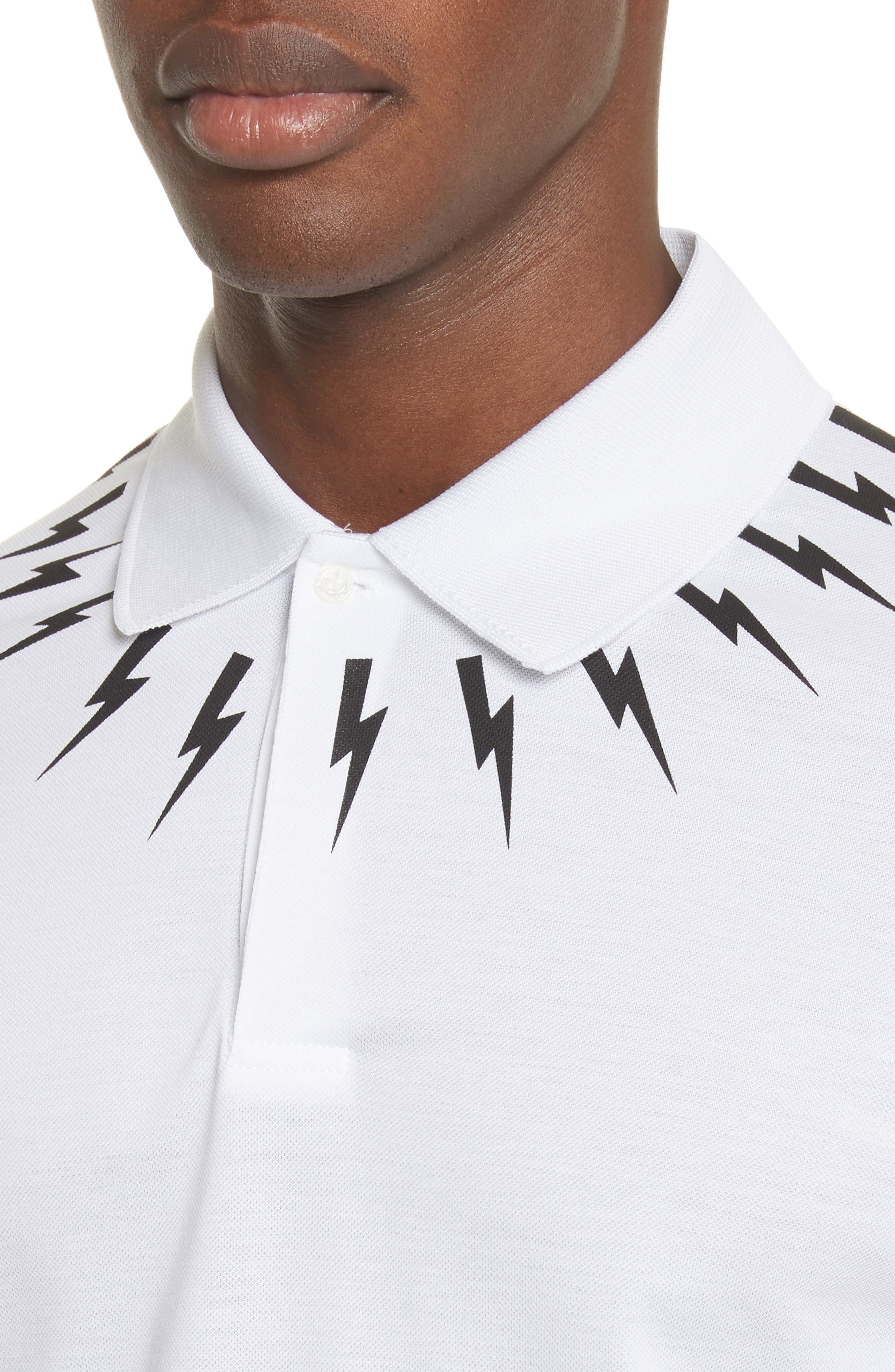 Thunderbolt Yoke Graphic Polo,                             Alternate thumbnail 4, color,                             100