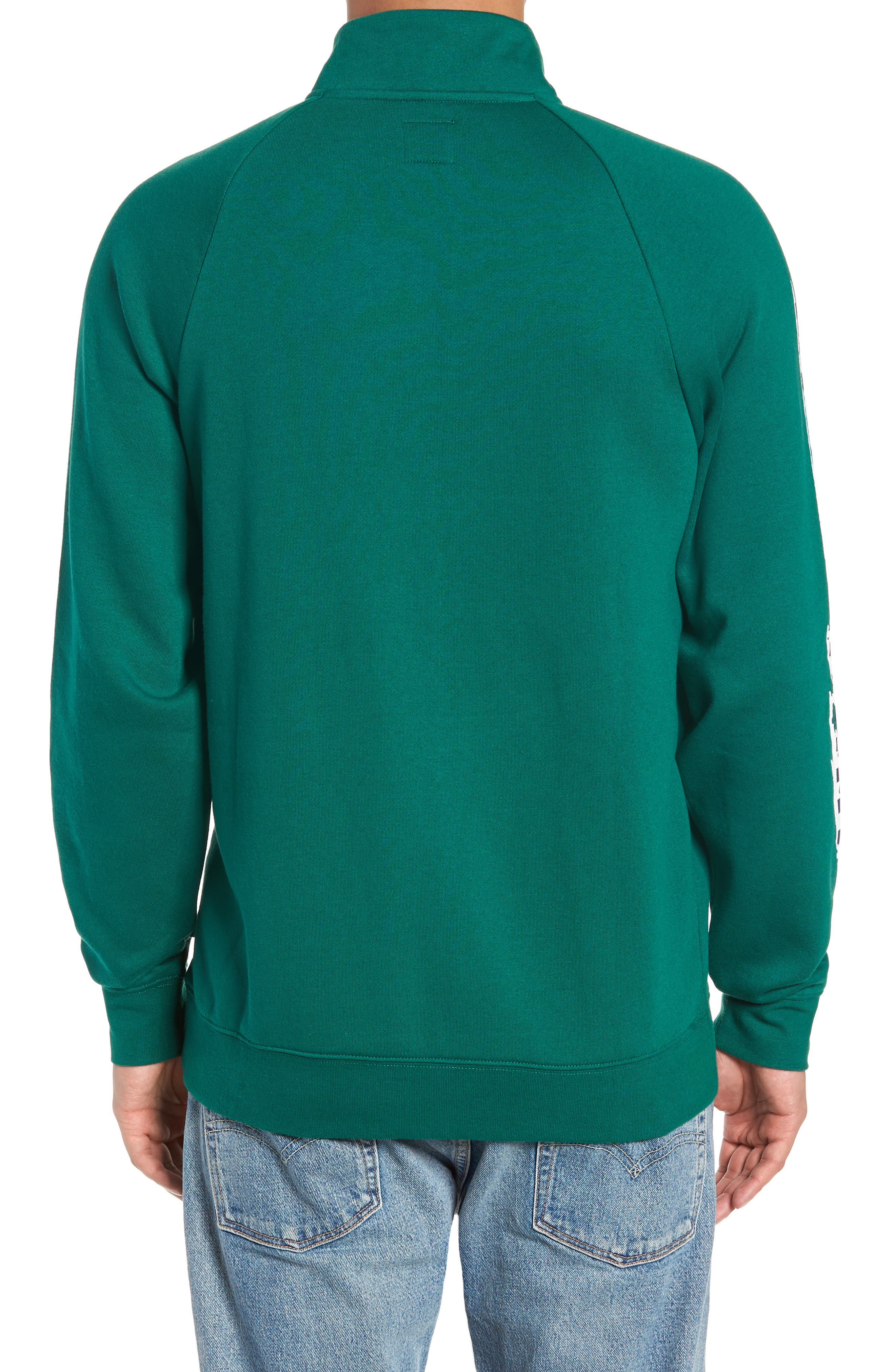 Check It Quarter Zip Pullover,                             Alternate thumbnail 2, color,                             EVERGREEN