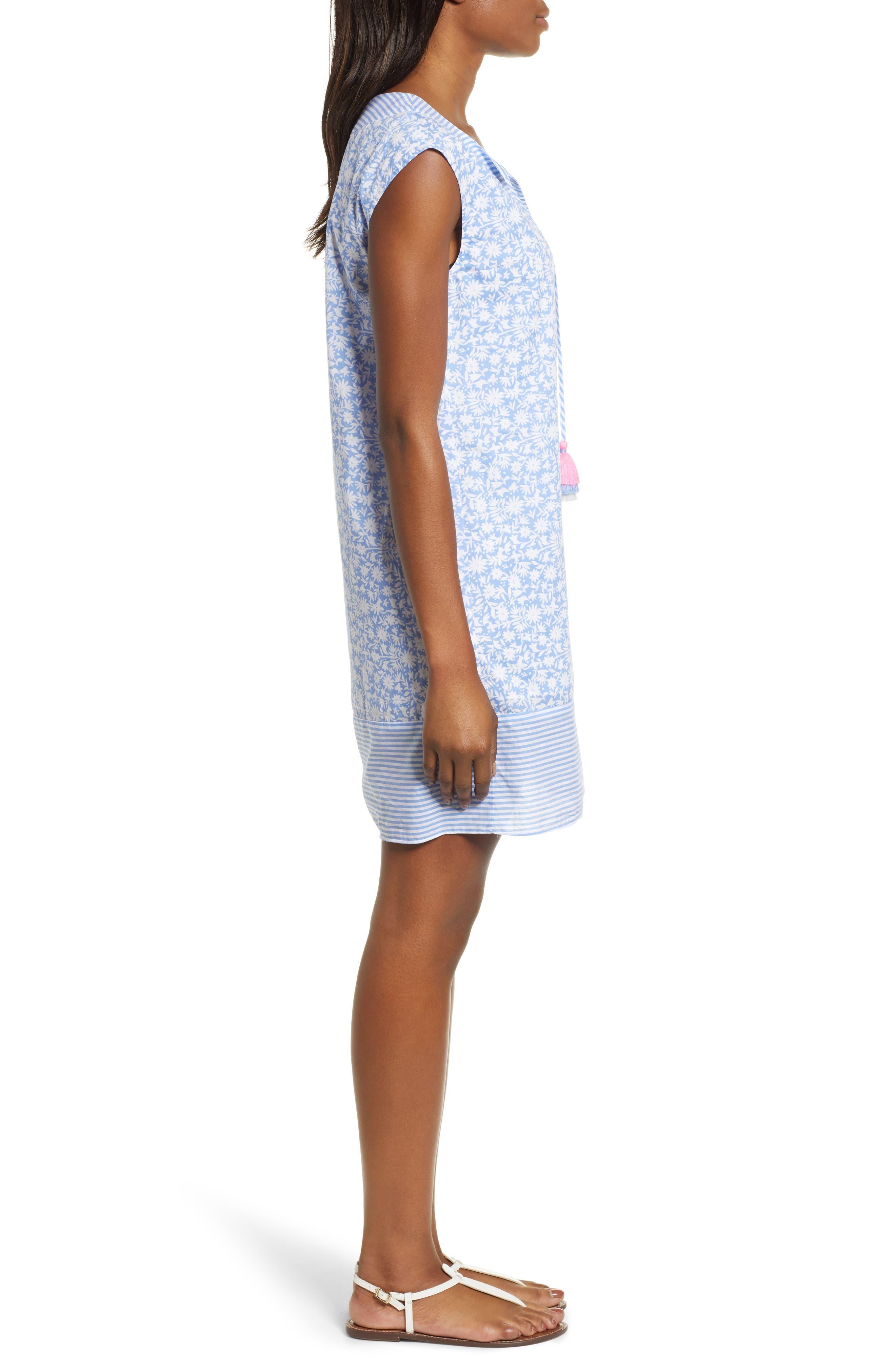 Somerset Tunic Dress,                             Alternate thumbnail 3, color,                             HYDRANGEA