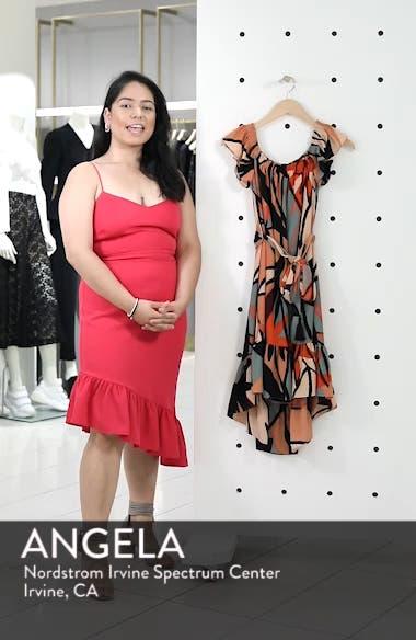 Off the Shoulder Bubble Crepe Dress, sales video thumbnail