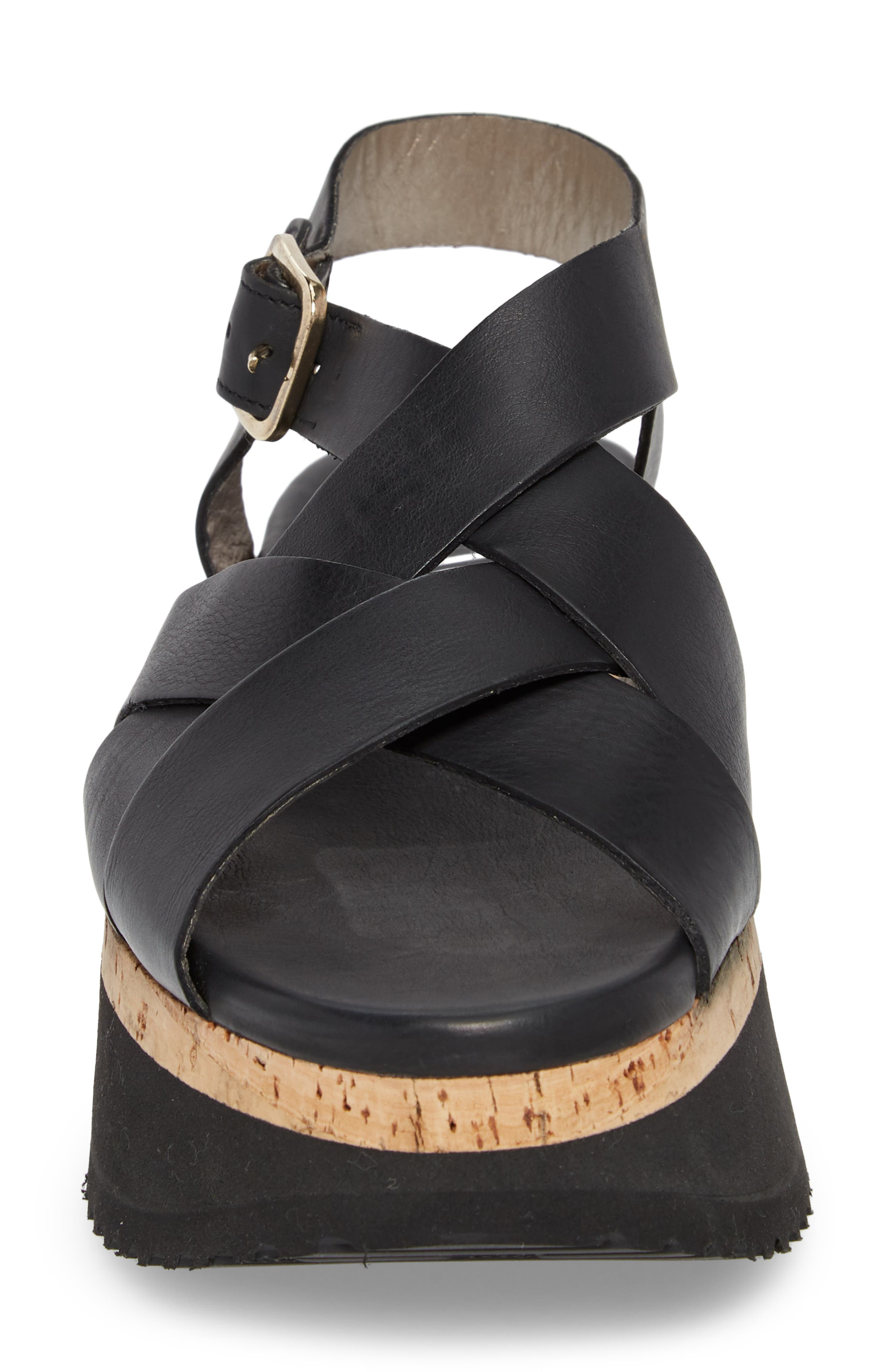 Braided Platform Sandal,                             Alternate thumbnail 4, color,