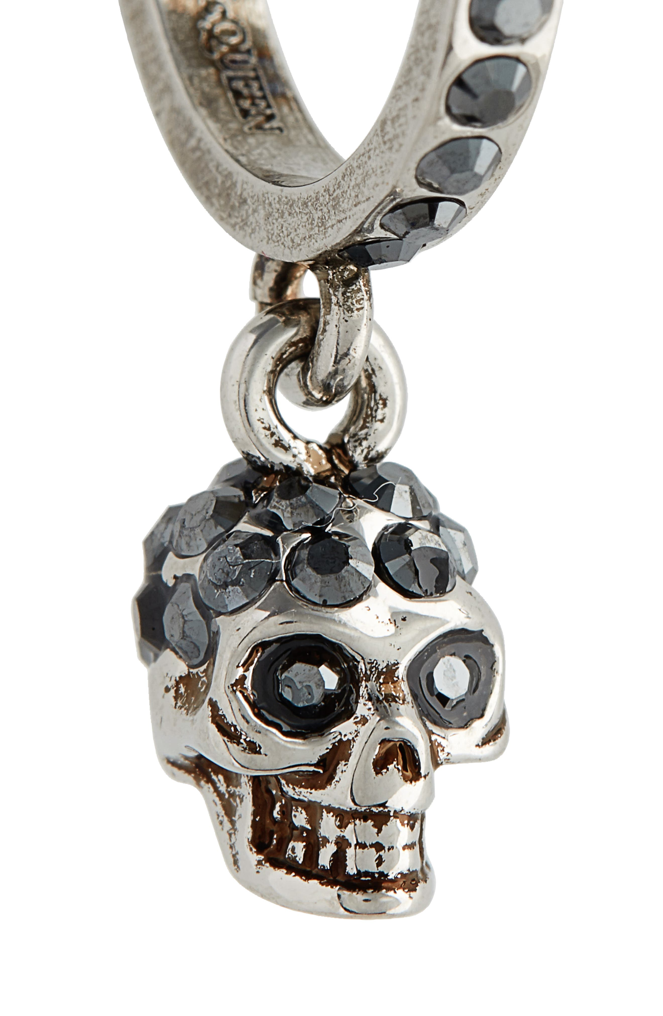 Skull Mini Hoop Earrings,                             Alternate thumbnail 5, color,                             040