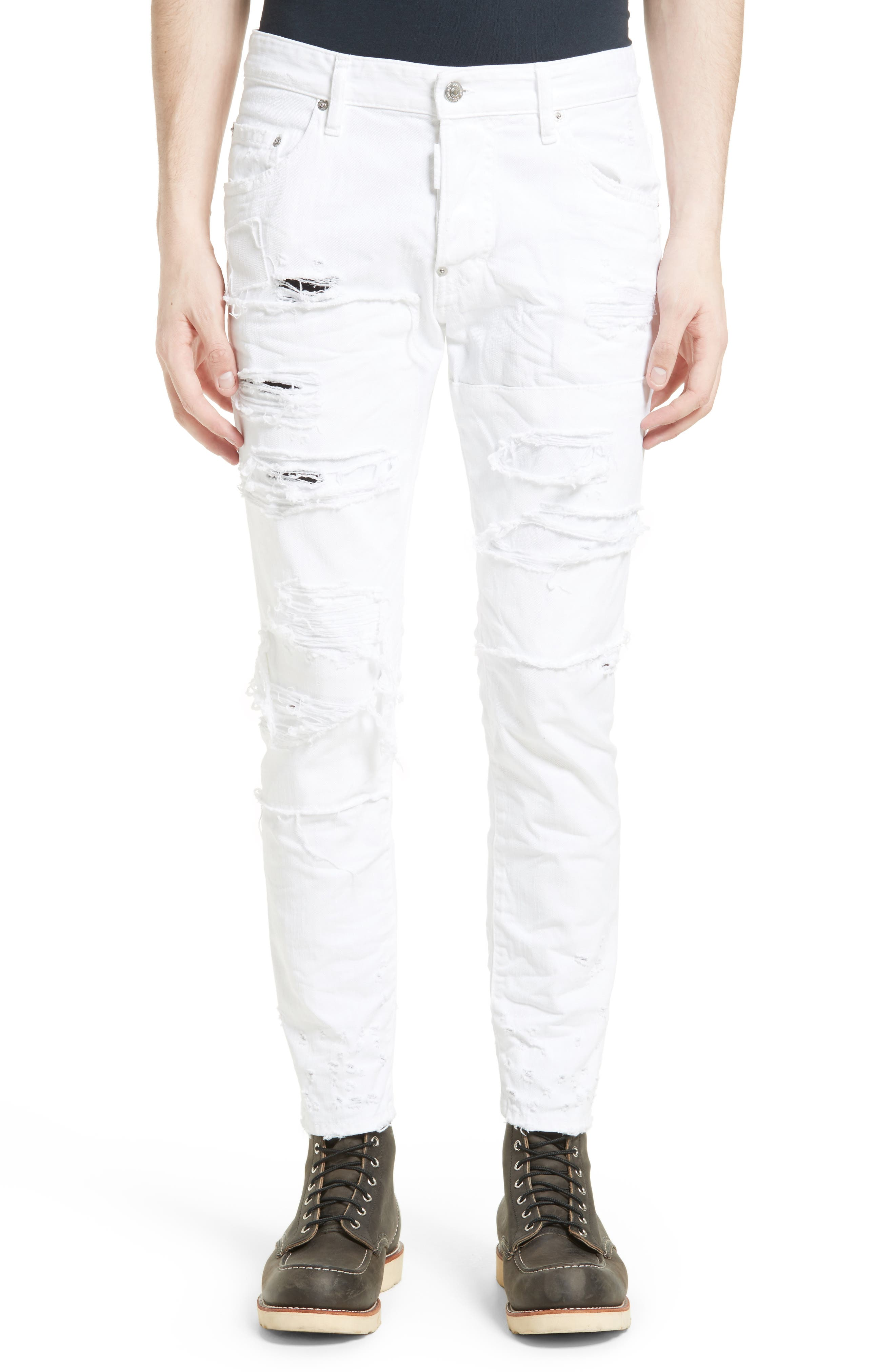 Shredded Jeans,                         Main,                         color, 100