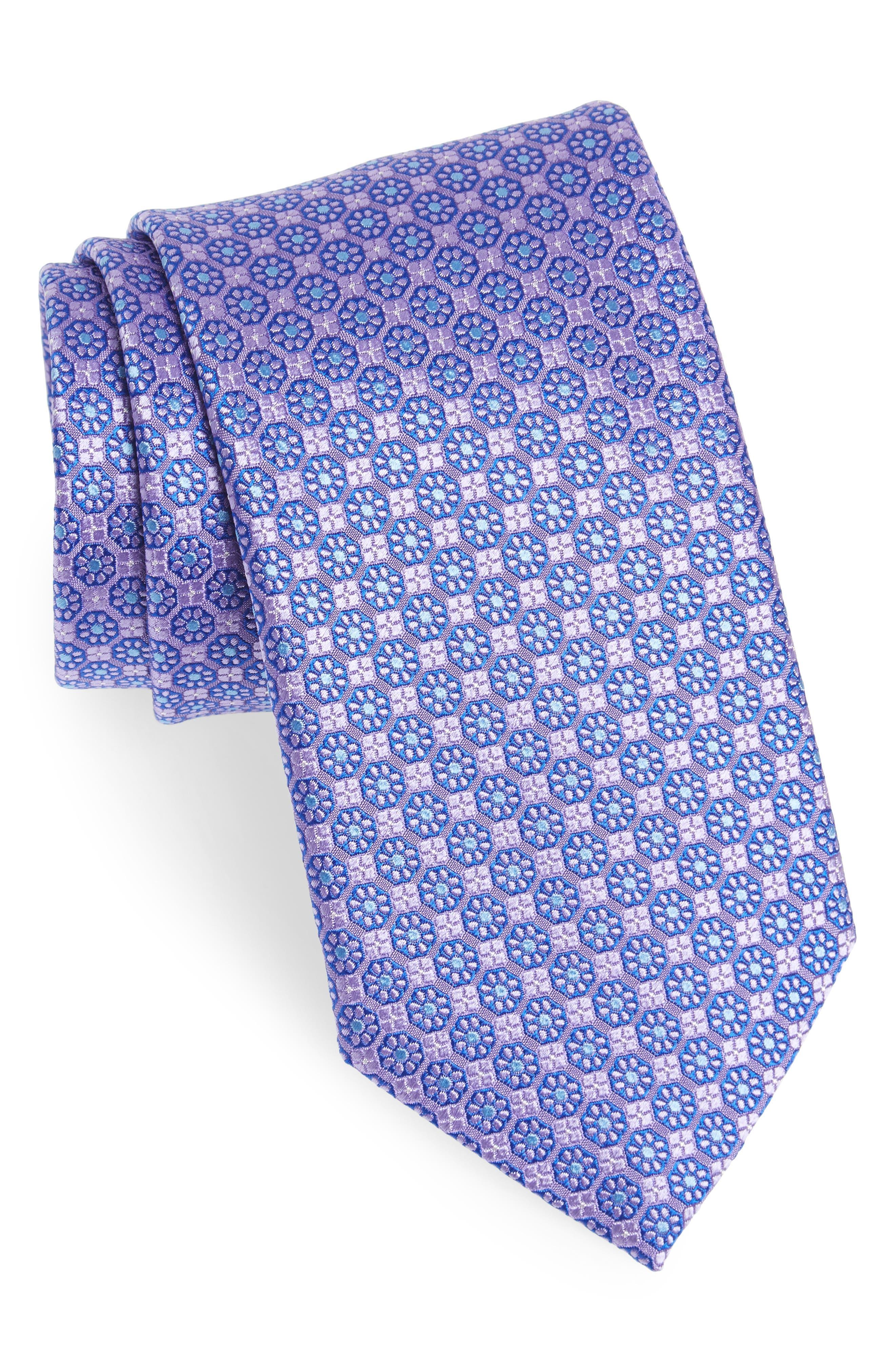 Medallion Silk Tie,                         Main,                         color, 500