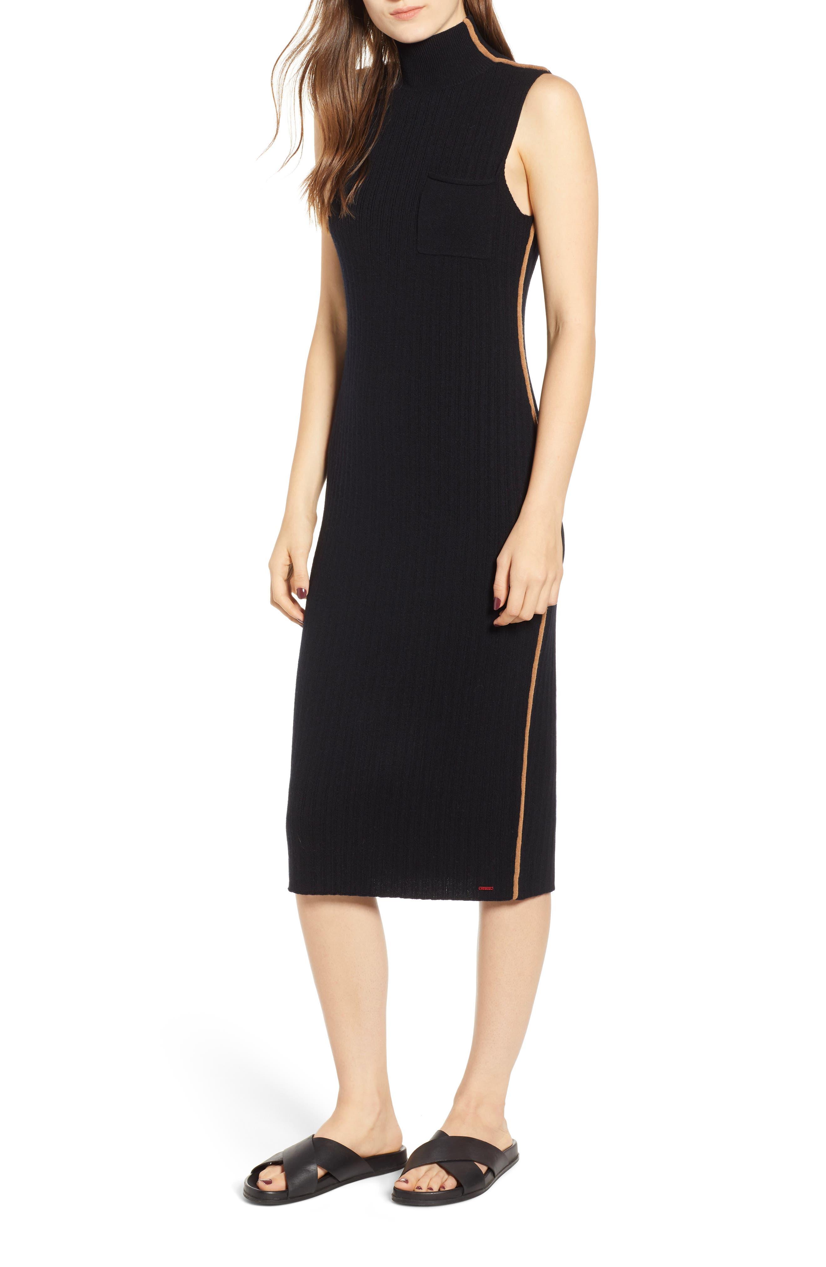 N:PHILANTHROPY,                             Henry Sweater Dress,                             Main thumbnail 1, color,                             BLACK CAT