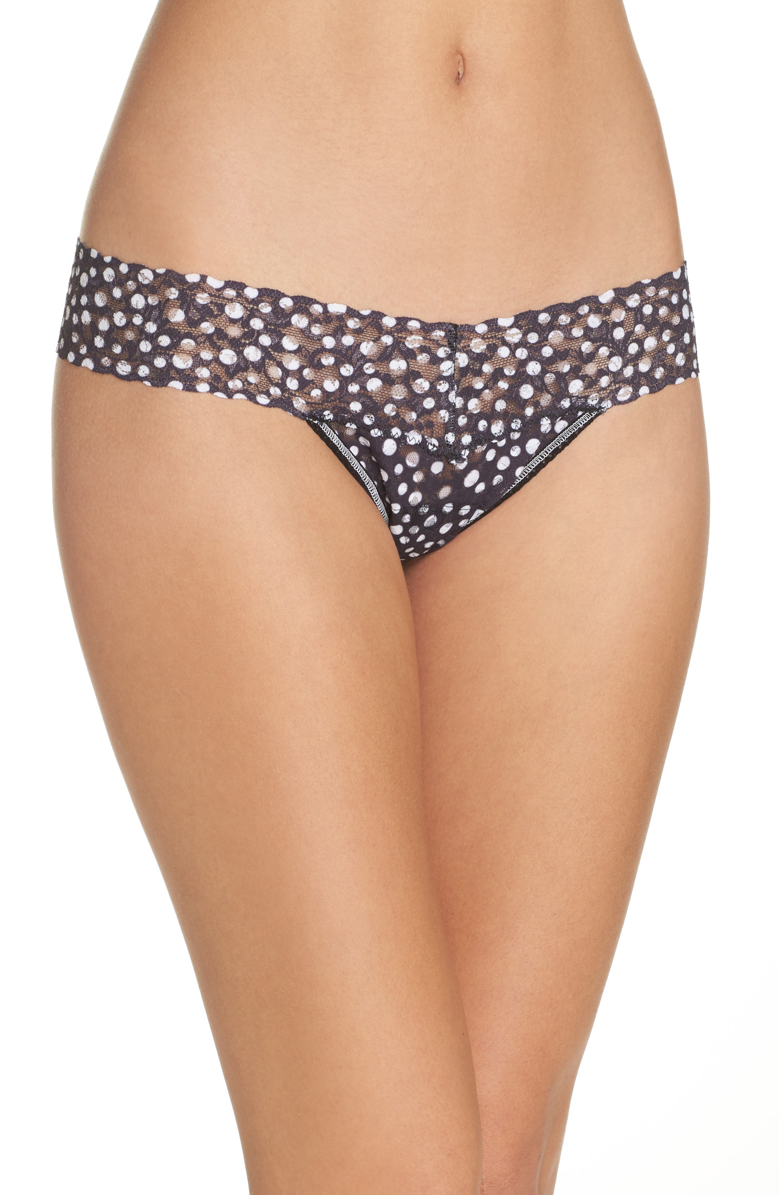 Print Low Rise Thong,                             Main thumbnail 1, color,