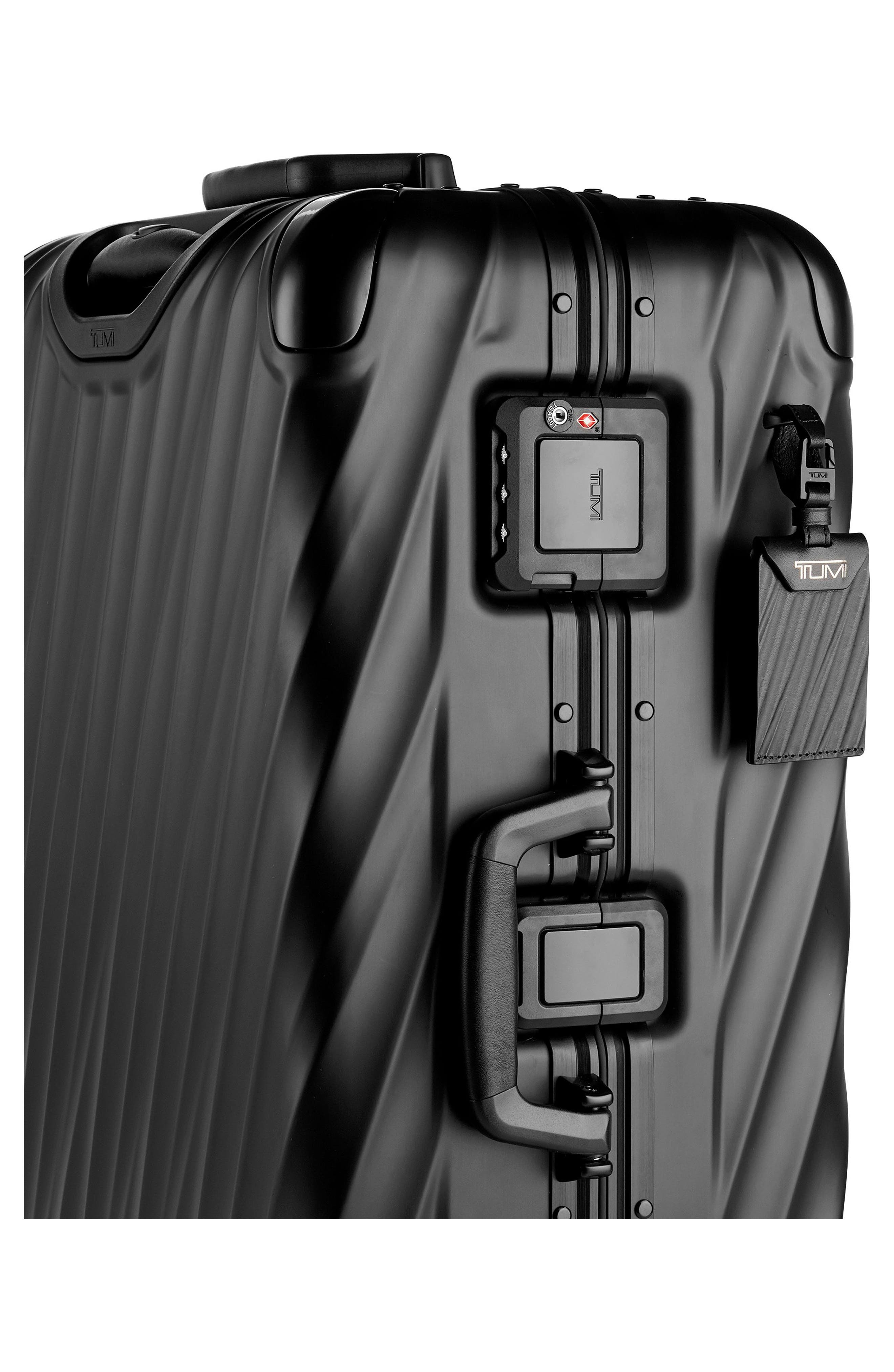 19-Degree Collection 26-Inch Wheeled Aluminum Short Trip Packing Case,                             Alternate thumbnail 3, color,                             MATTE BLACK
