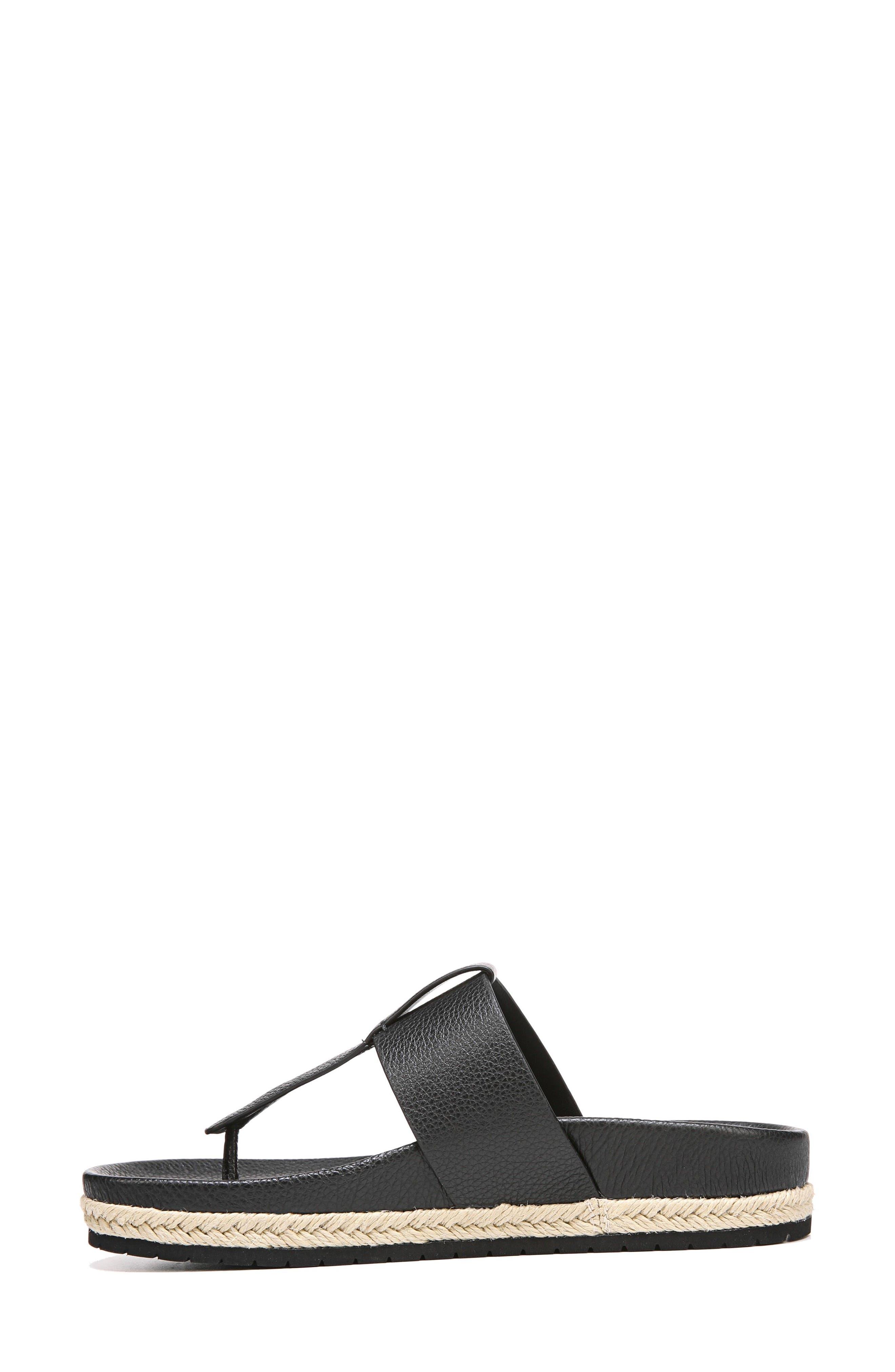 Avani T-Strap Flat Sandal,                             Alternate thumbnail 3, color,                             001