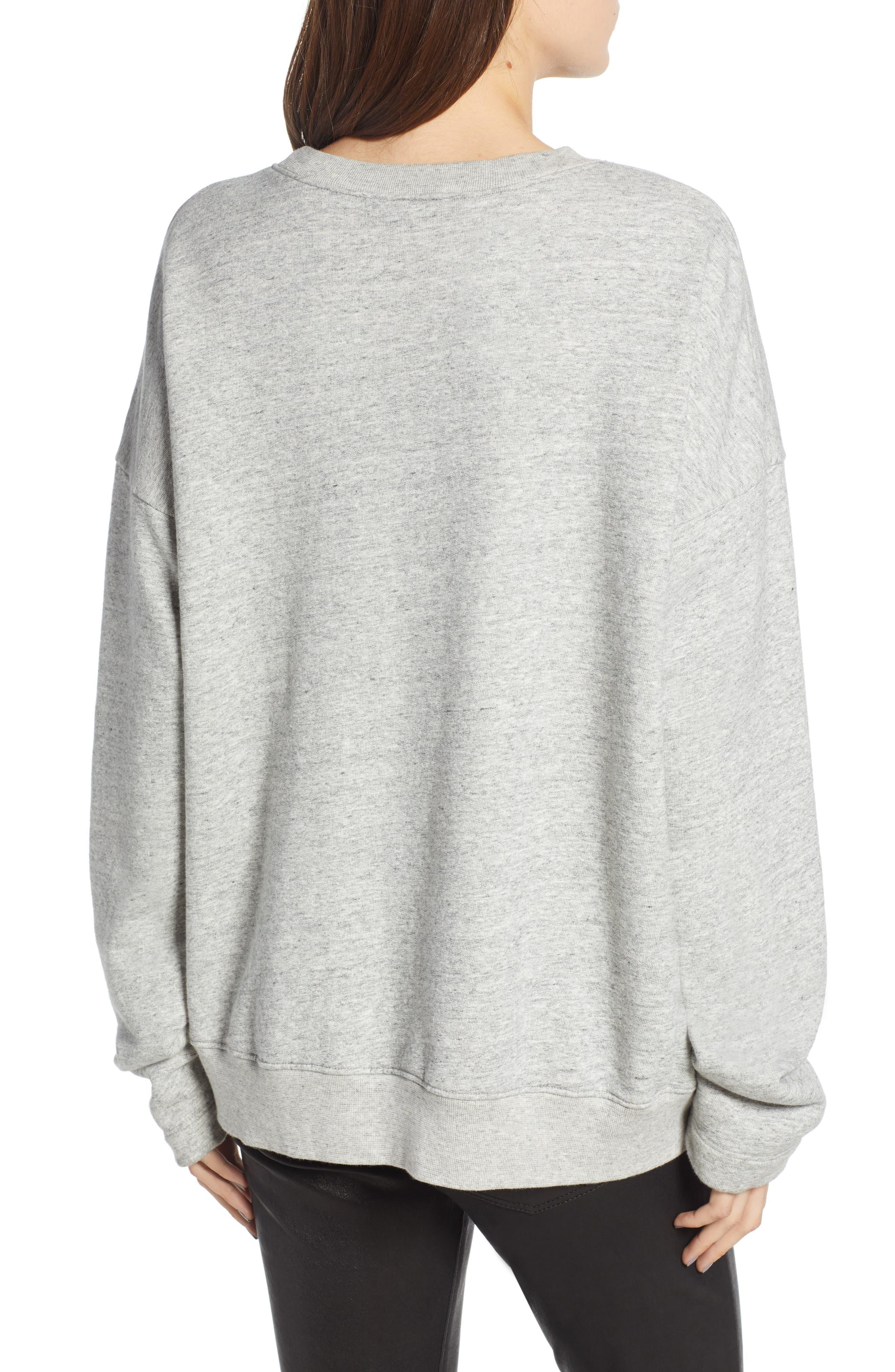 Berdine Oversize Sweatshirt,                             Alternate thumbnail 2, color,                             HEATHER GREY