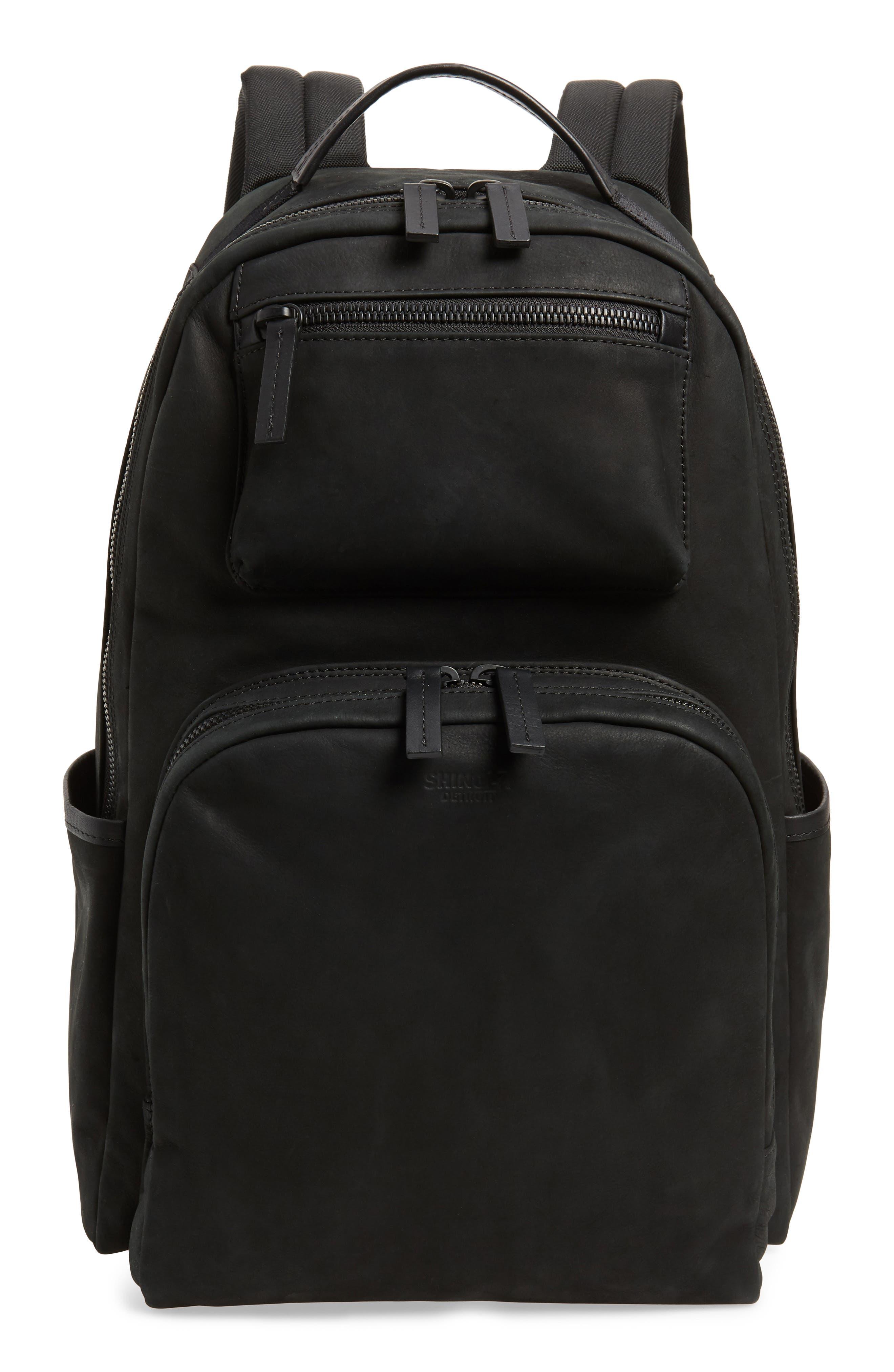 Nubuck Utility Backpack,                         Main,                         color, BLACK