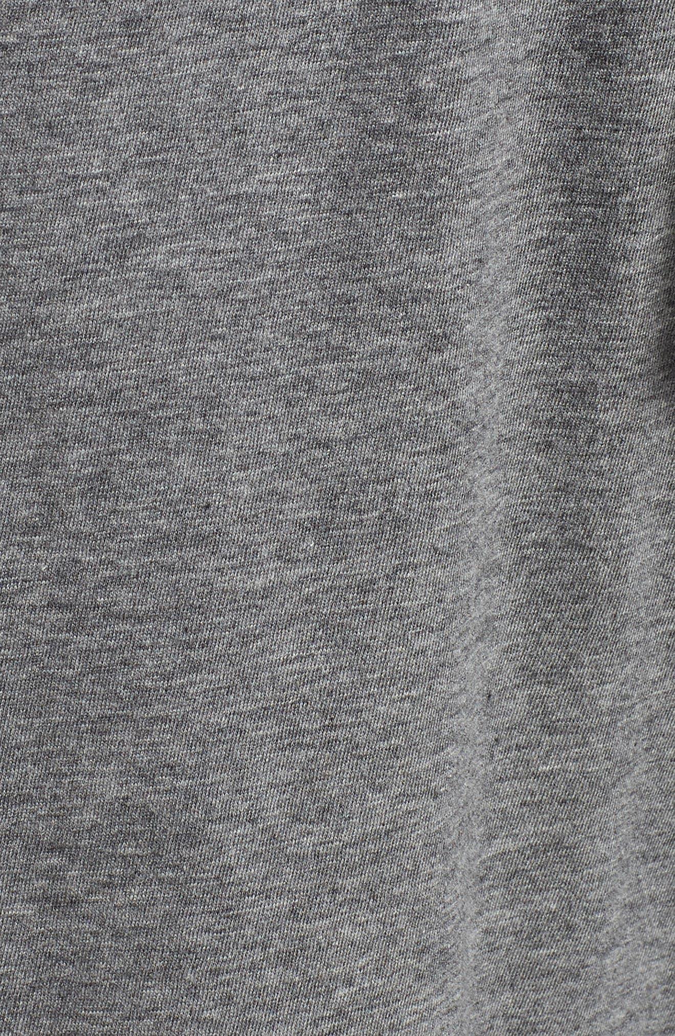 Pima Cotton Lounge Shorts,                             Alternate thumbnail 5, color,                             CHARCOAL HEATHER