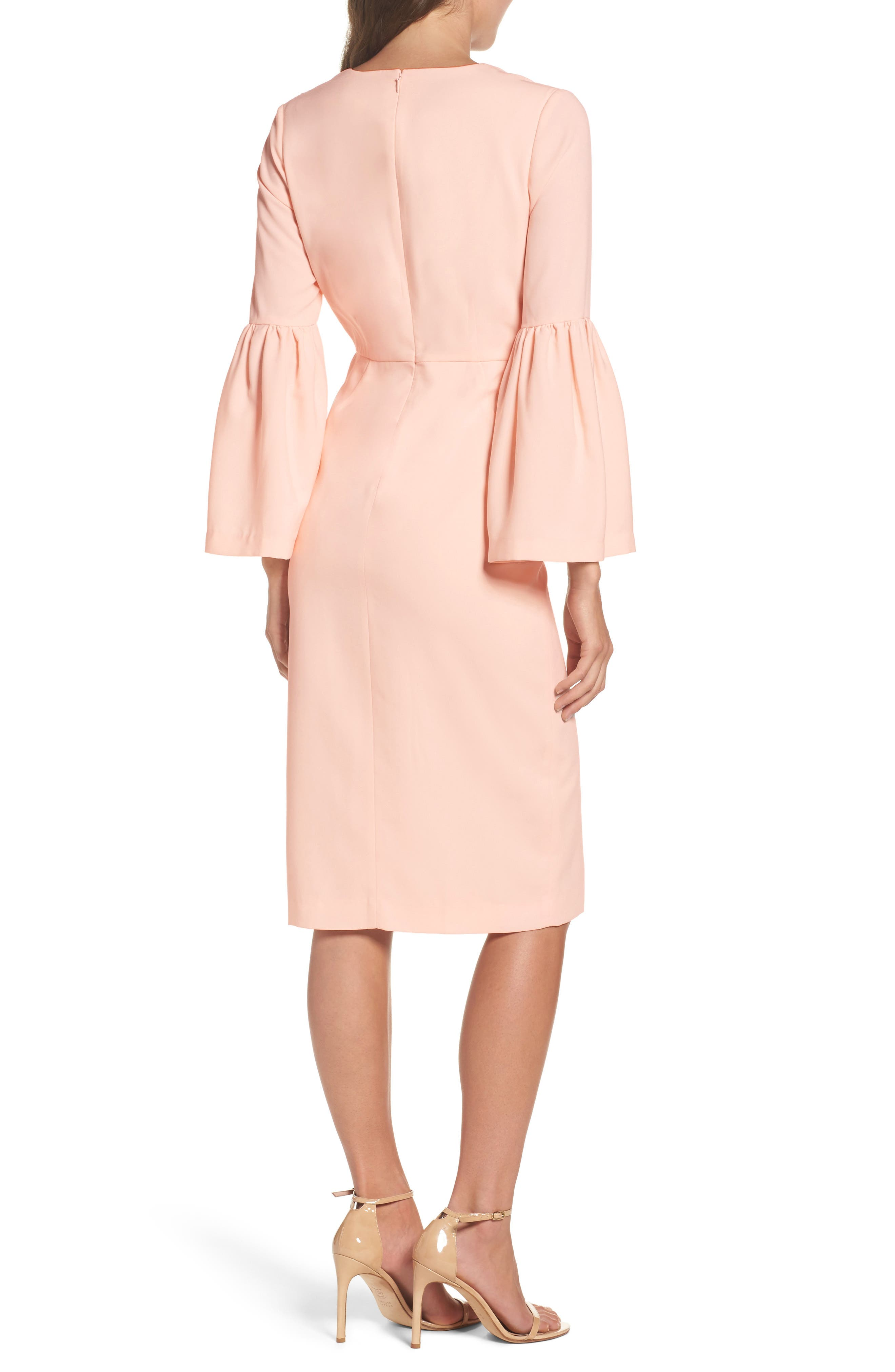 Bell Sleeve Dress,                             Alternate thumbnail 2, color,                             400