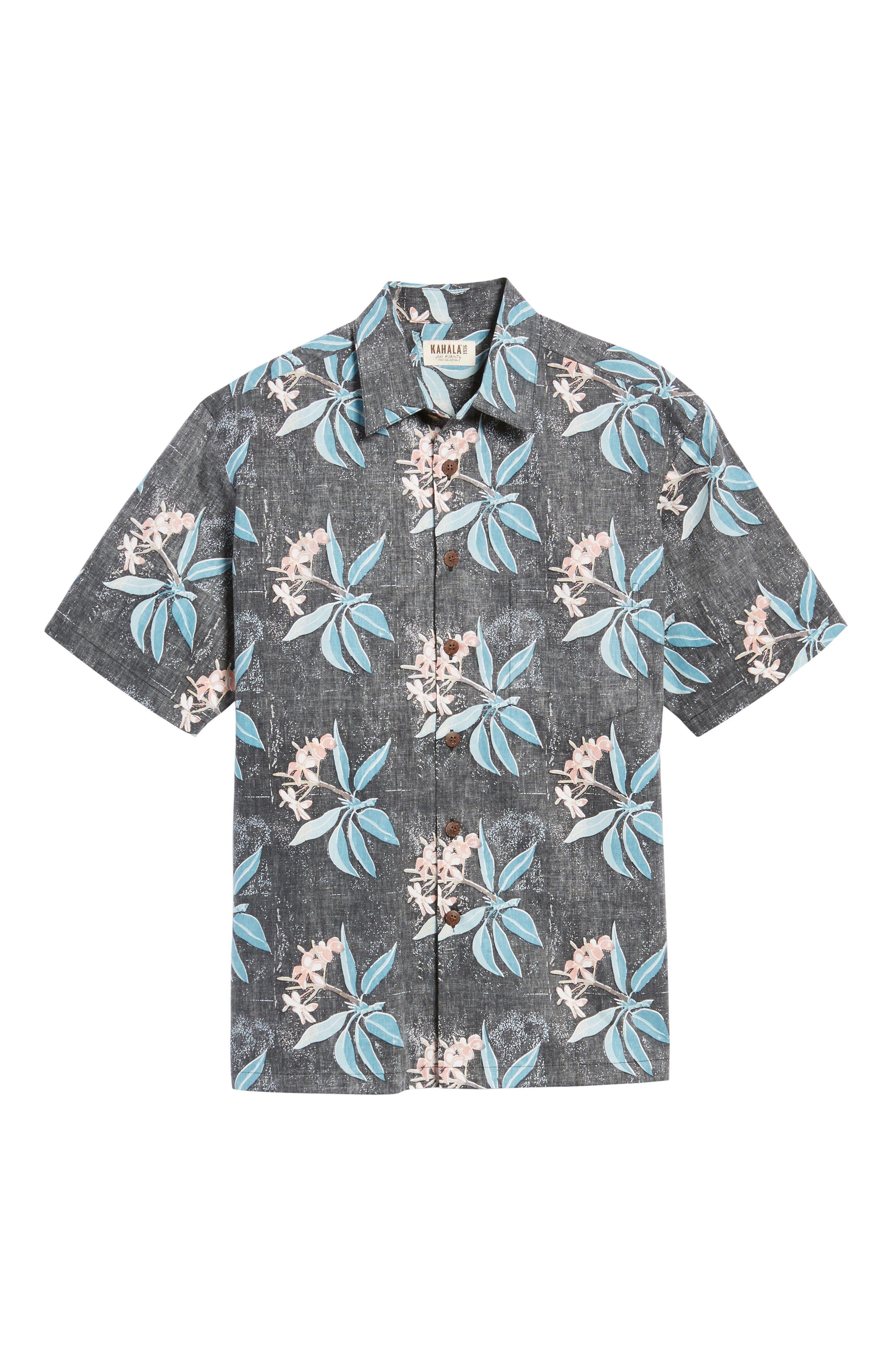 Pua Classic Fit Print Sport Shirt,                             Alternate thumbnail 6, color,                             001