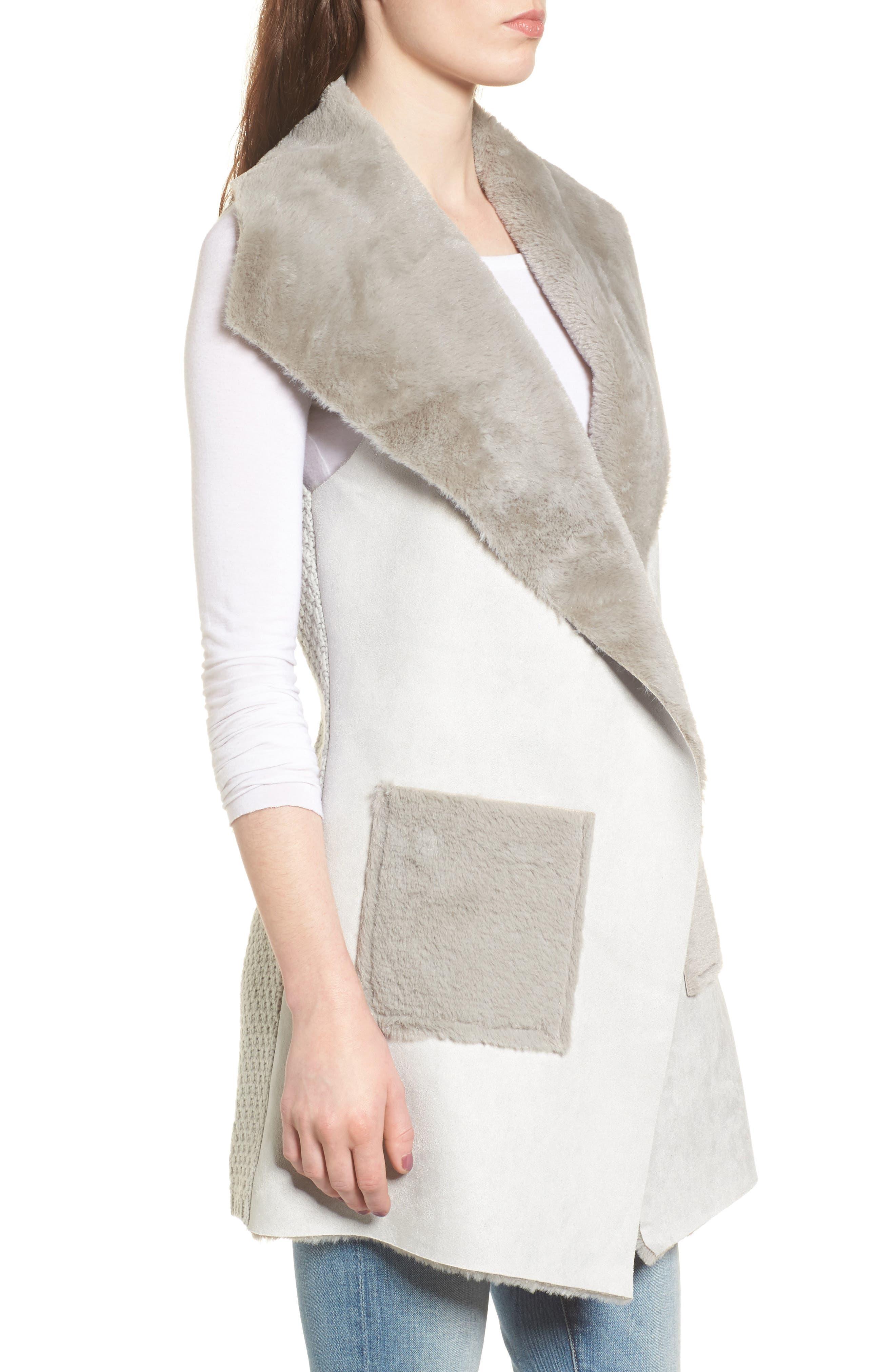 Faux Shearling Vest,                             Alternate thumbnail 8, color,