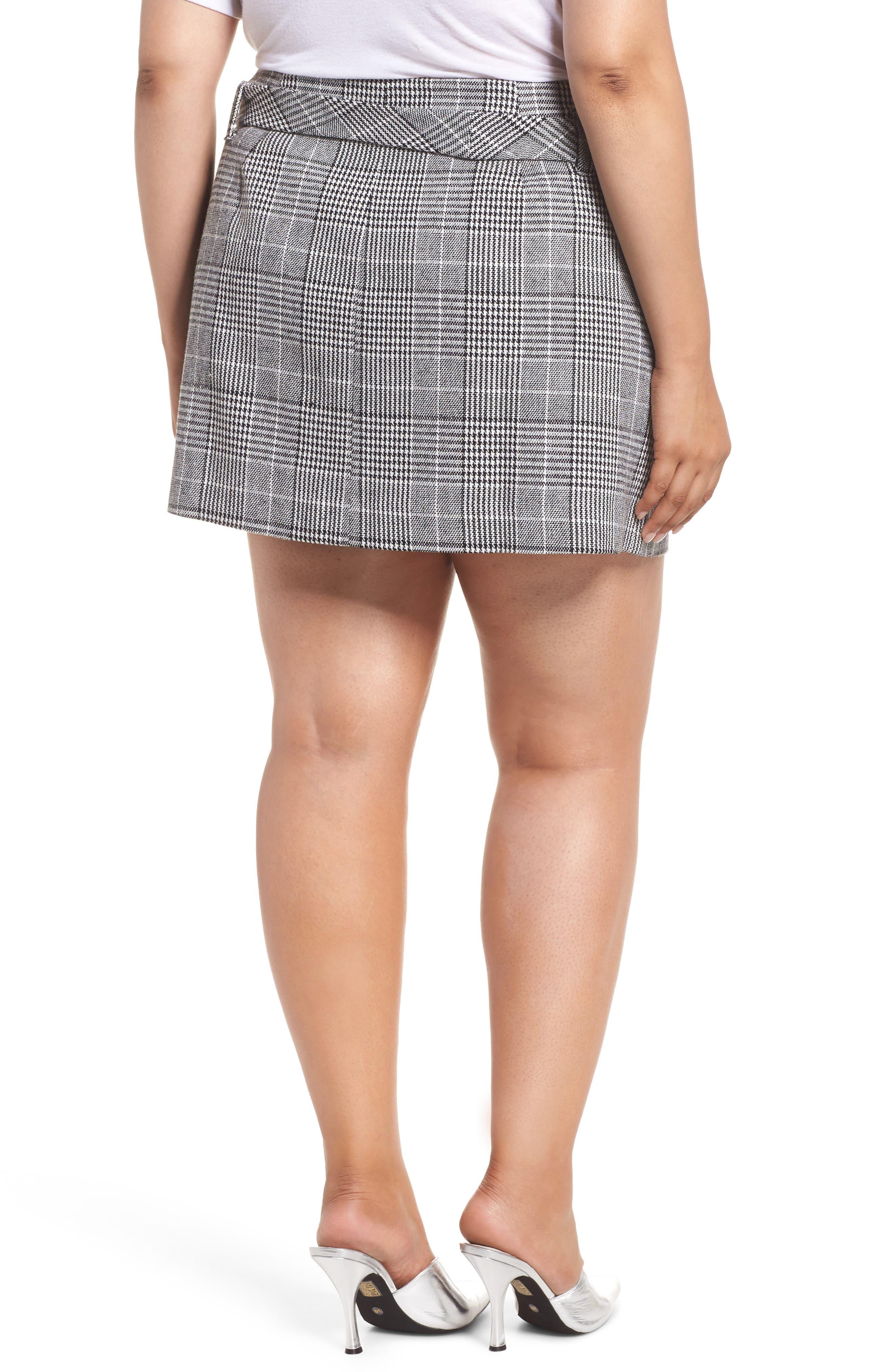 Plaid Miniskirt,                             Alternate thumbnail 8, color,                             BLACK SHAROL PLAID