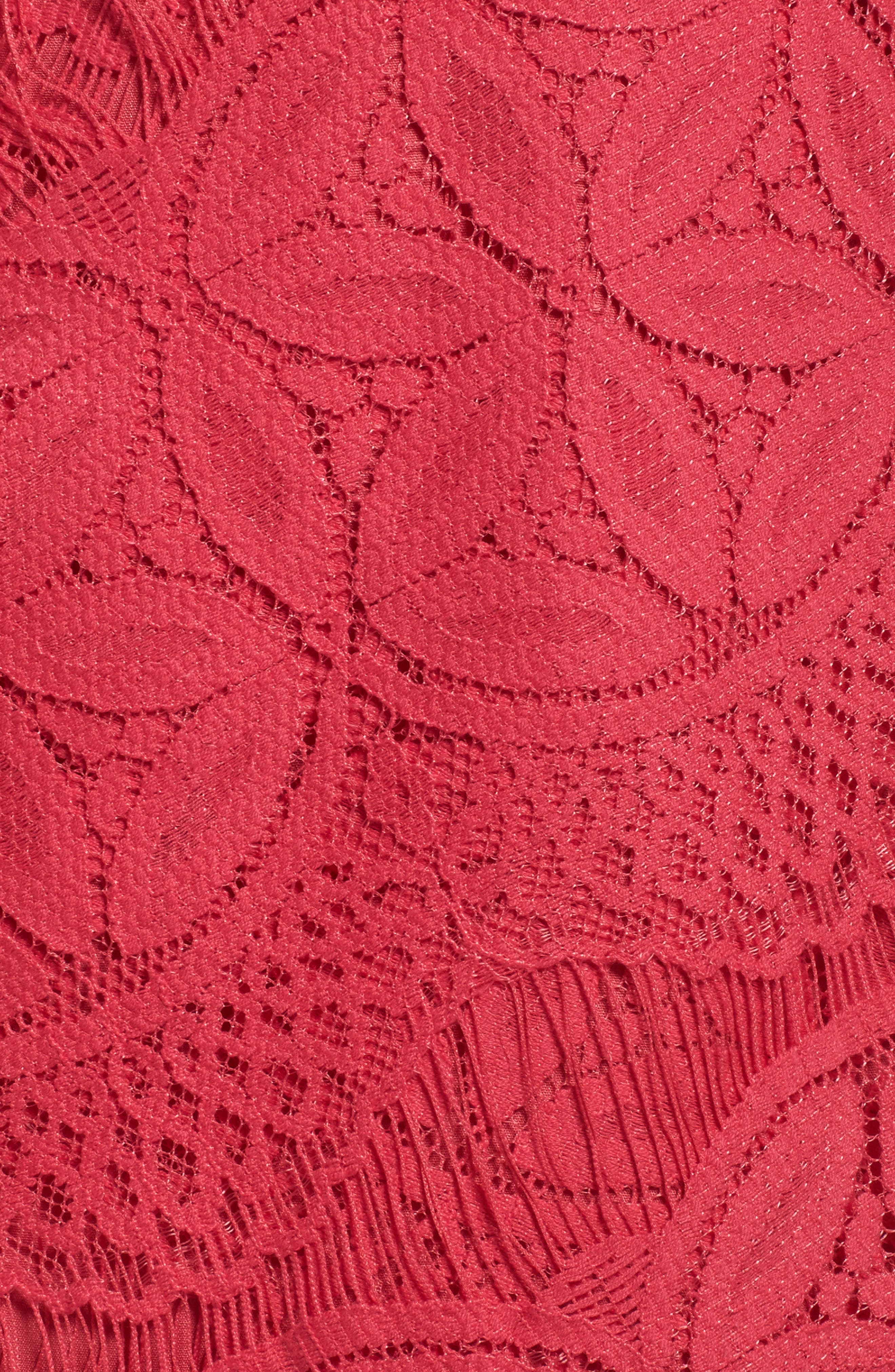 Lace High/Low Sheath Dress,                             Alternate thumbnail 41, color,