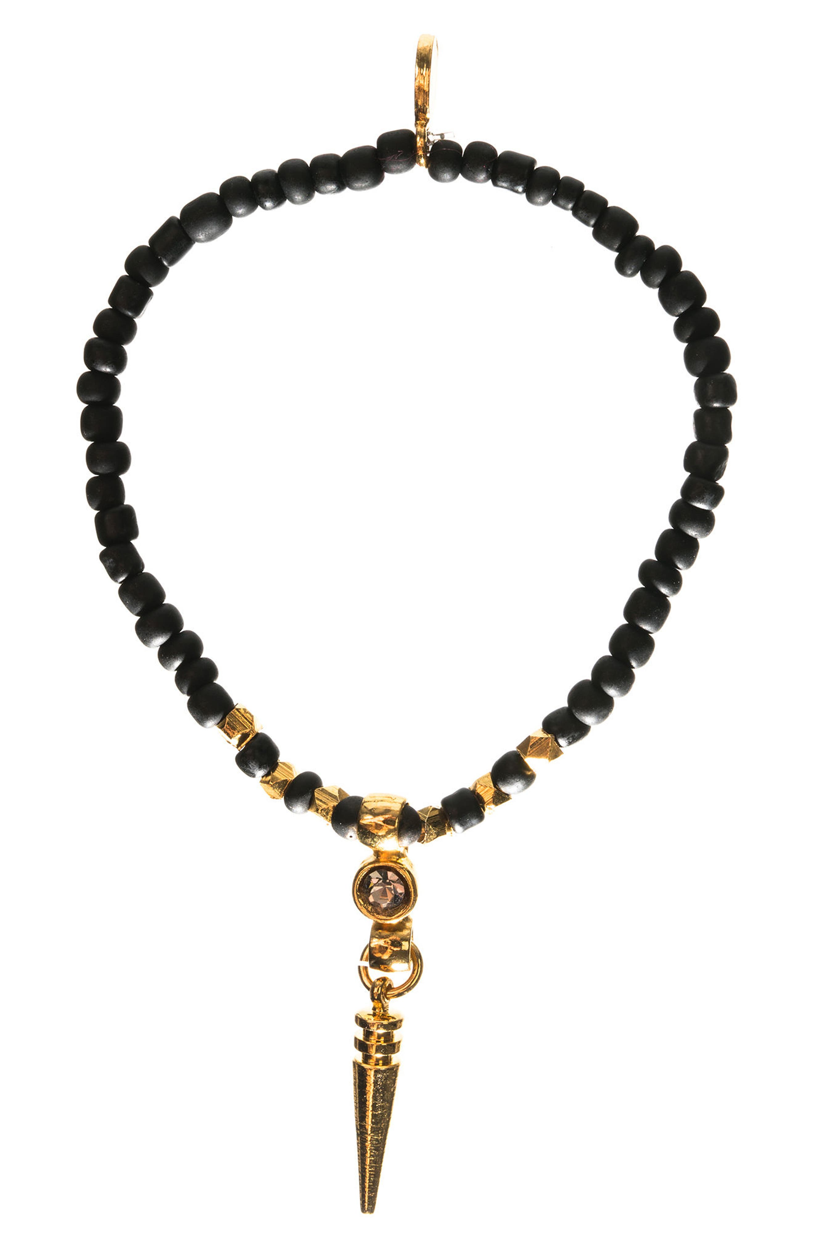 Crystal Spike Set of 2 Beaded Stretch Bracelets,                         Main,                         color,