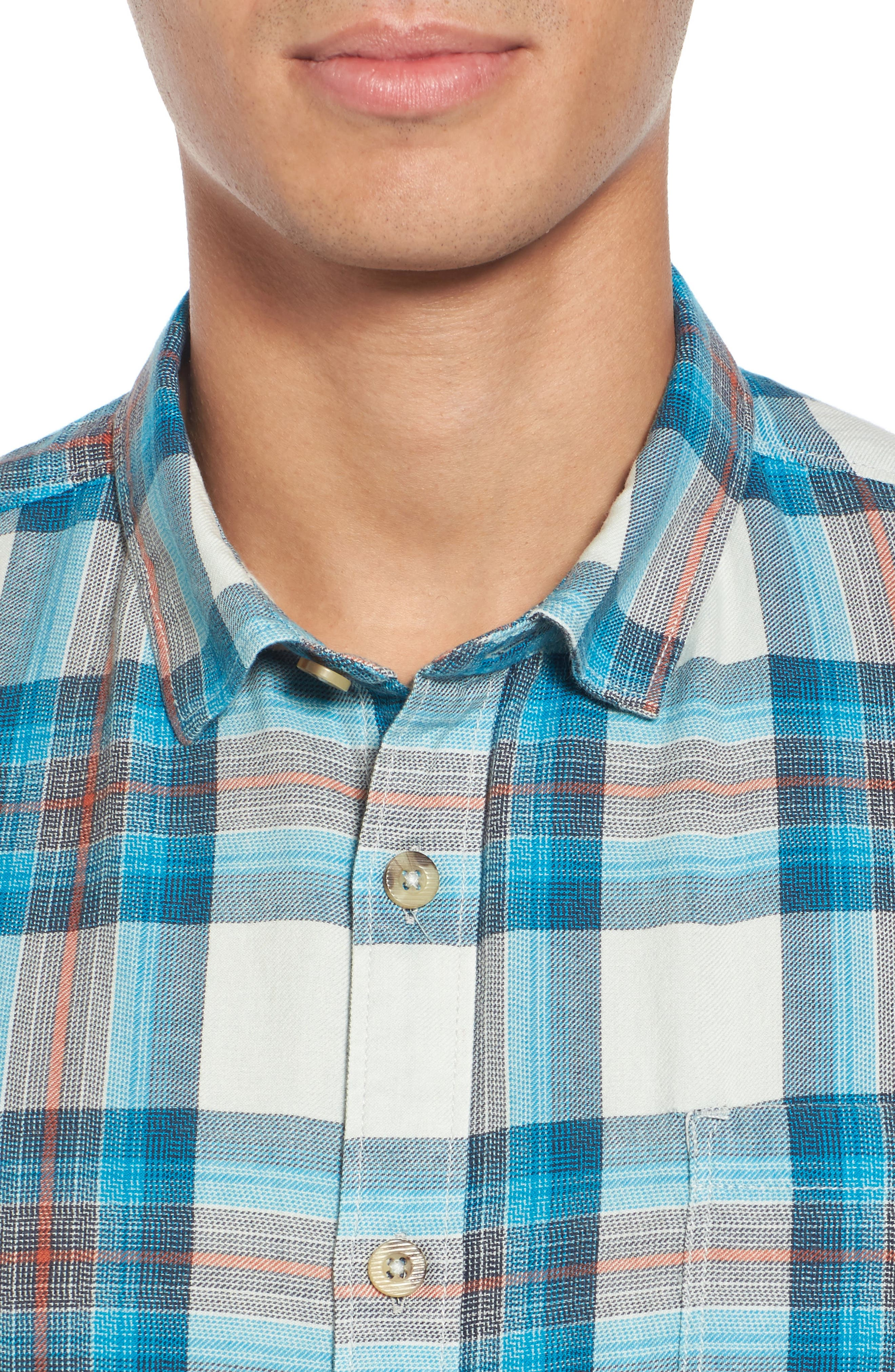 Freemont Flannel Shirt,                             Alternate thumbnail 4, color,                             020