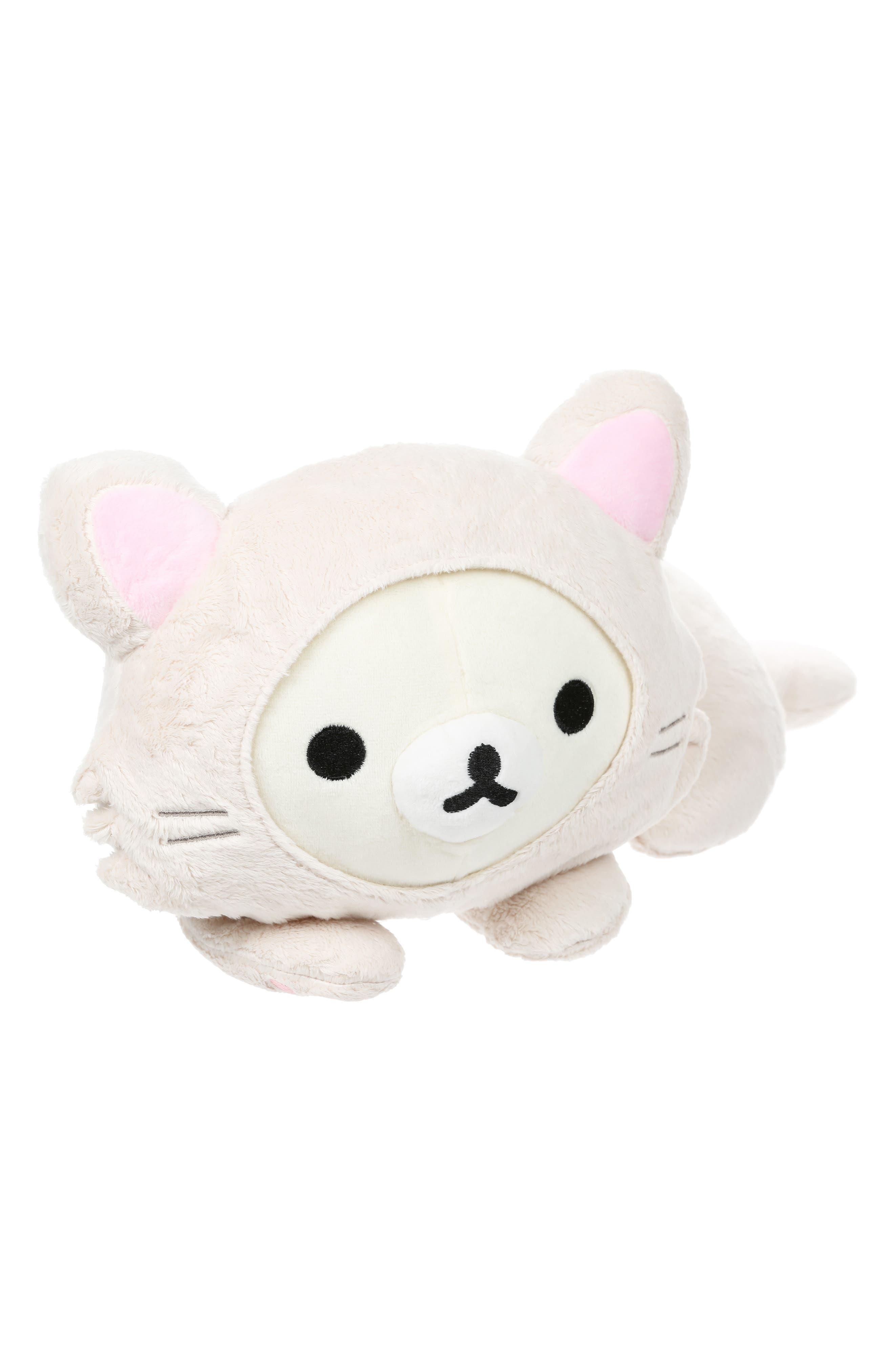 Rilakkuma Korilakkuma Laydown Cat Stuffed Animal,                             Alternate thumbnail 2, color,                             WHITE