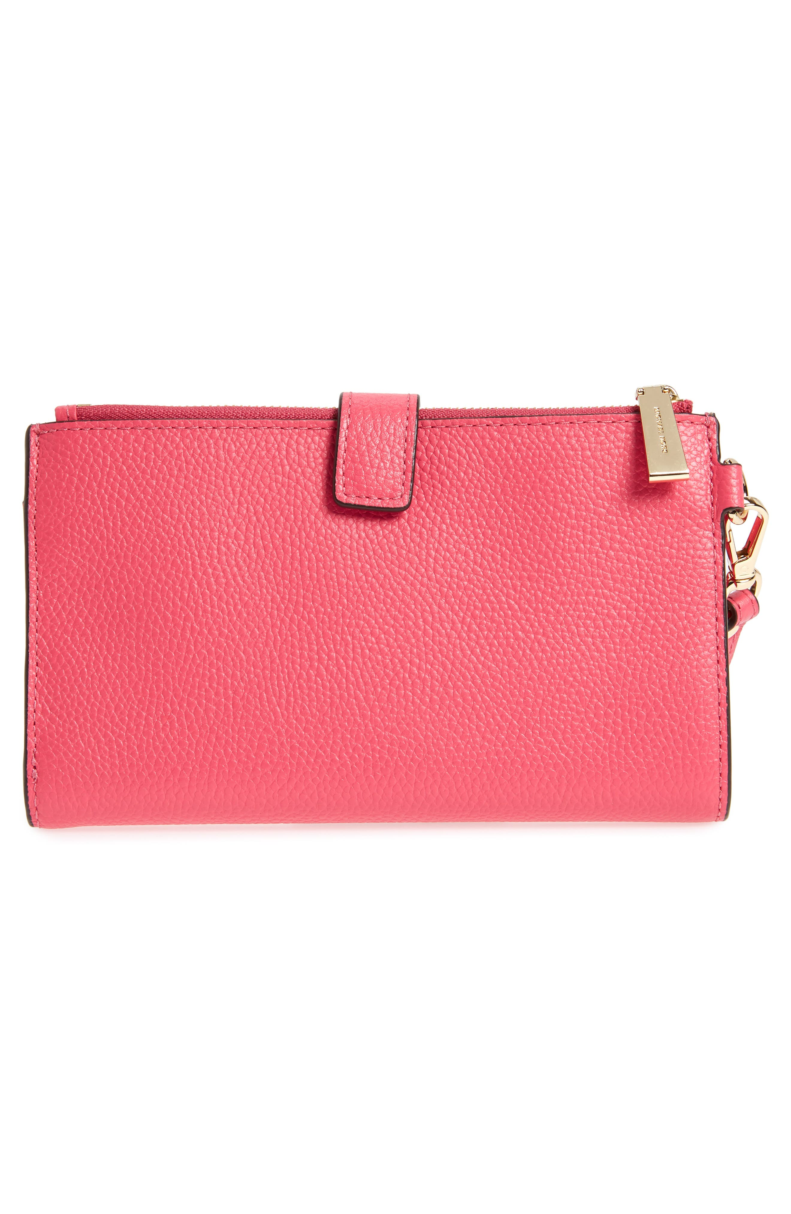 Adele Leather Wristlet,                             Alternate thumbnail 25, color,