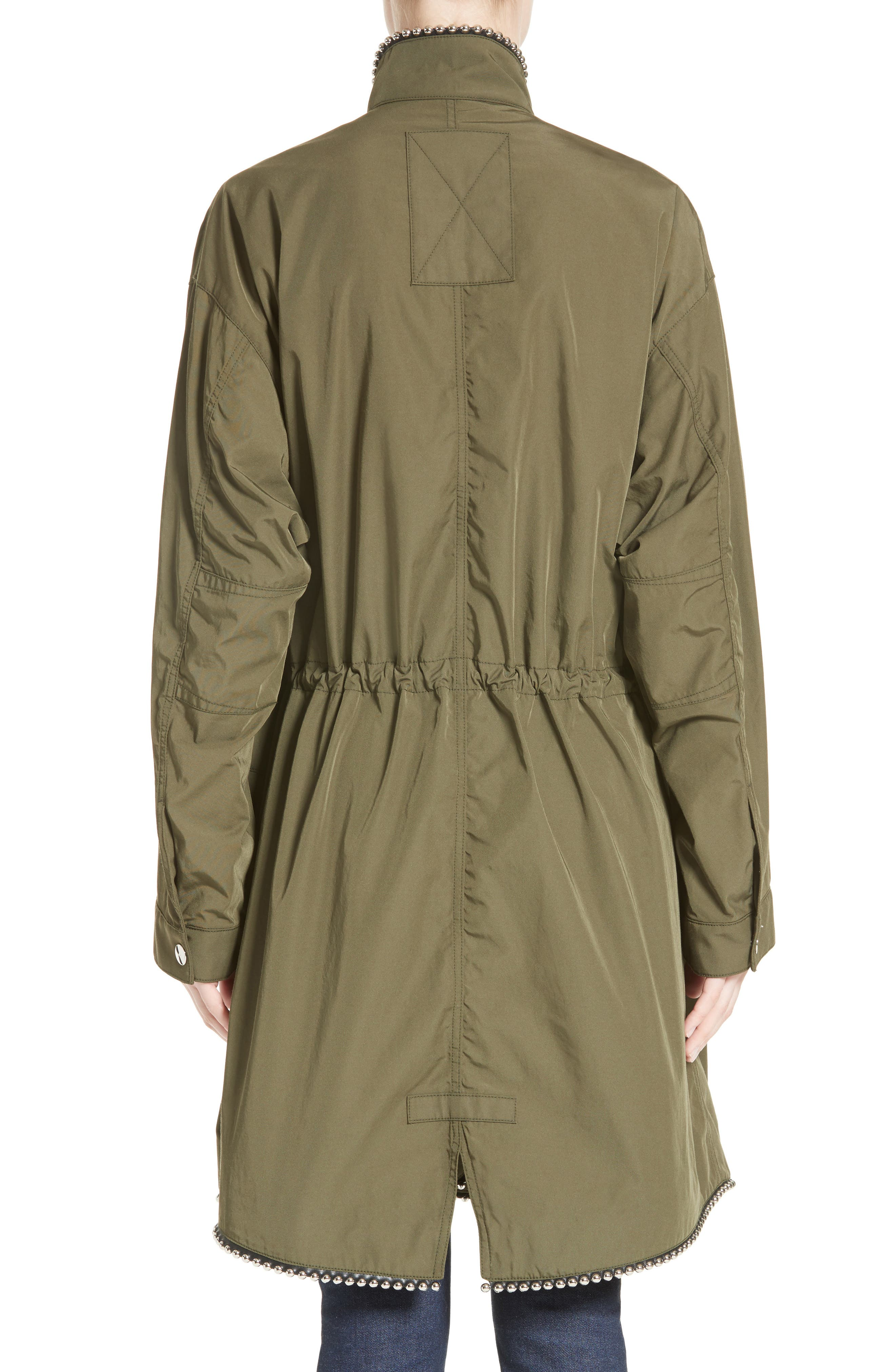 Chain Trim Twill Parka,                             Alternate thumbnail 2, color,                             300