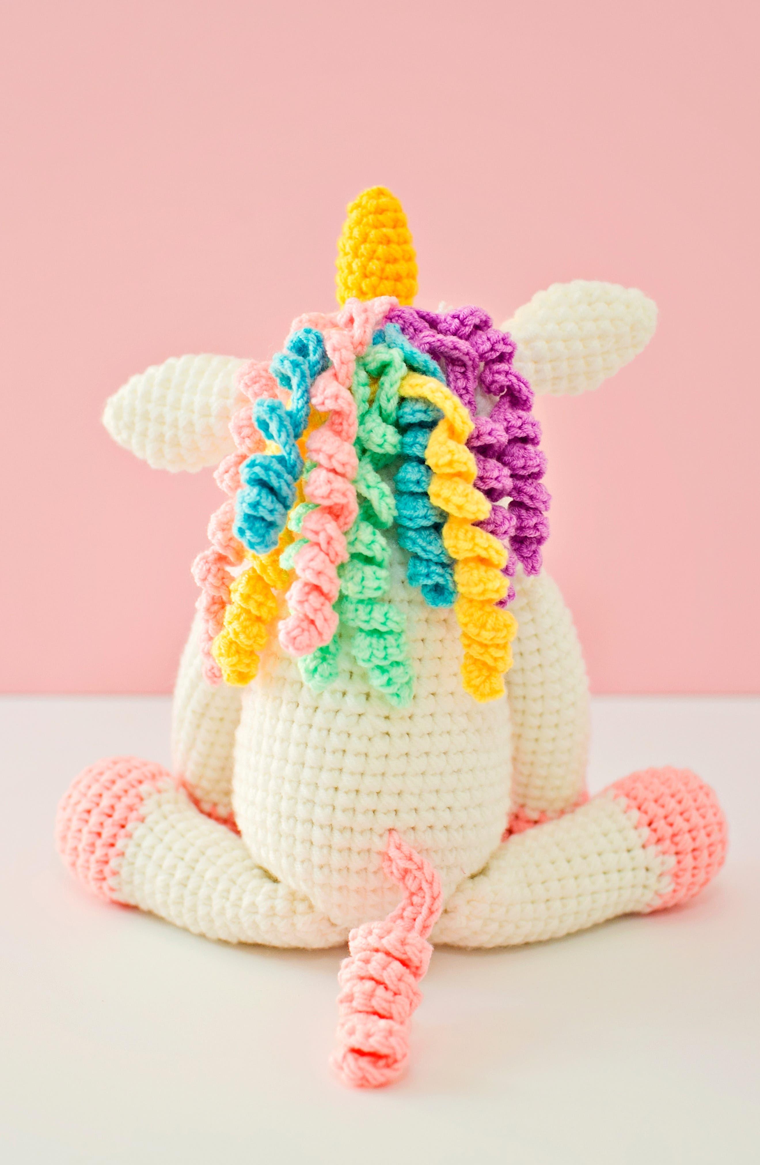 Twinks Crochet Unicorn Doll,                             Alternate thumbnail 5, color,                             WHITE/ MULTI